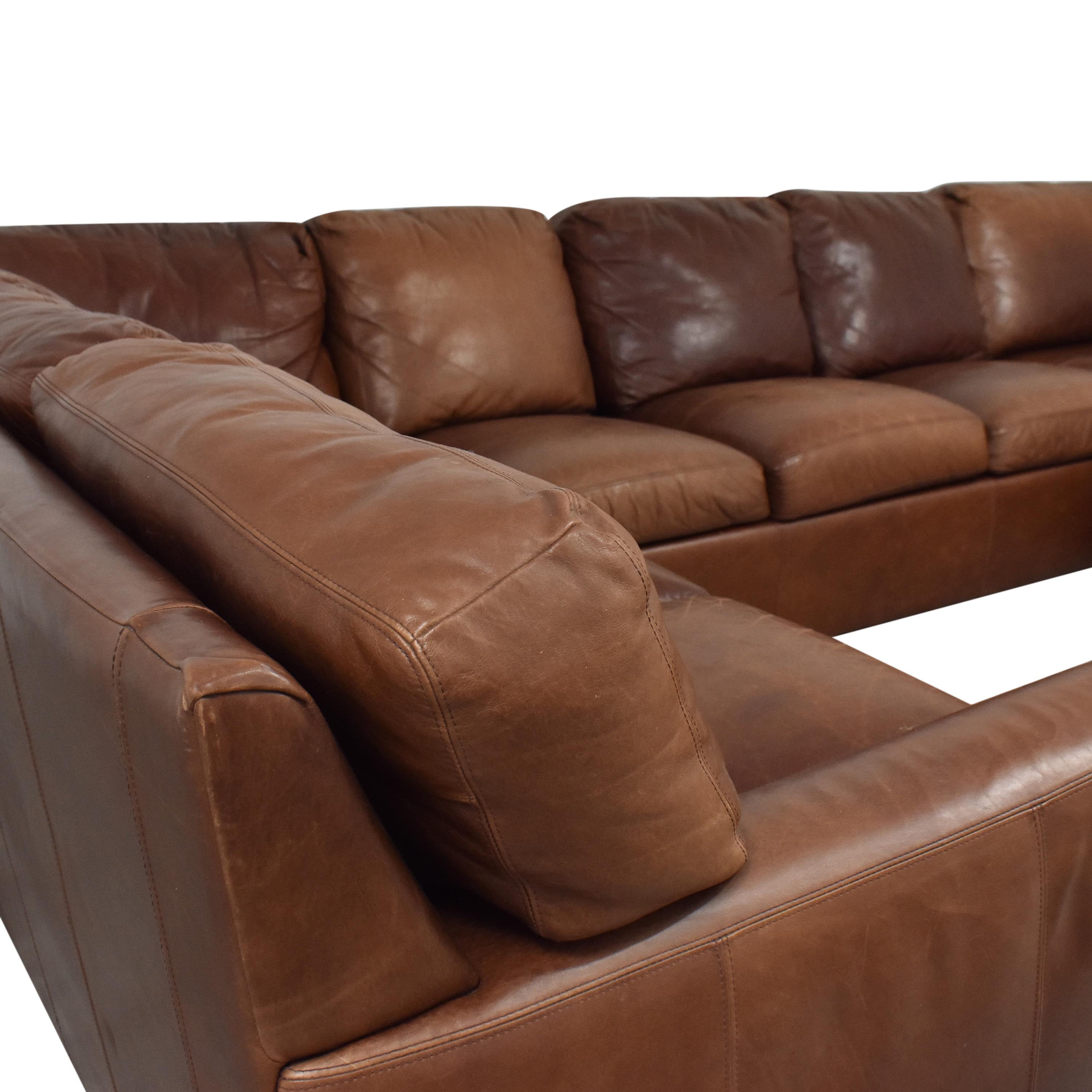 buy American Leather Danford Sectional Sofa American Leather Sectionals