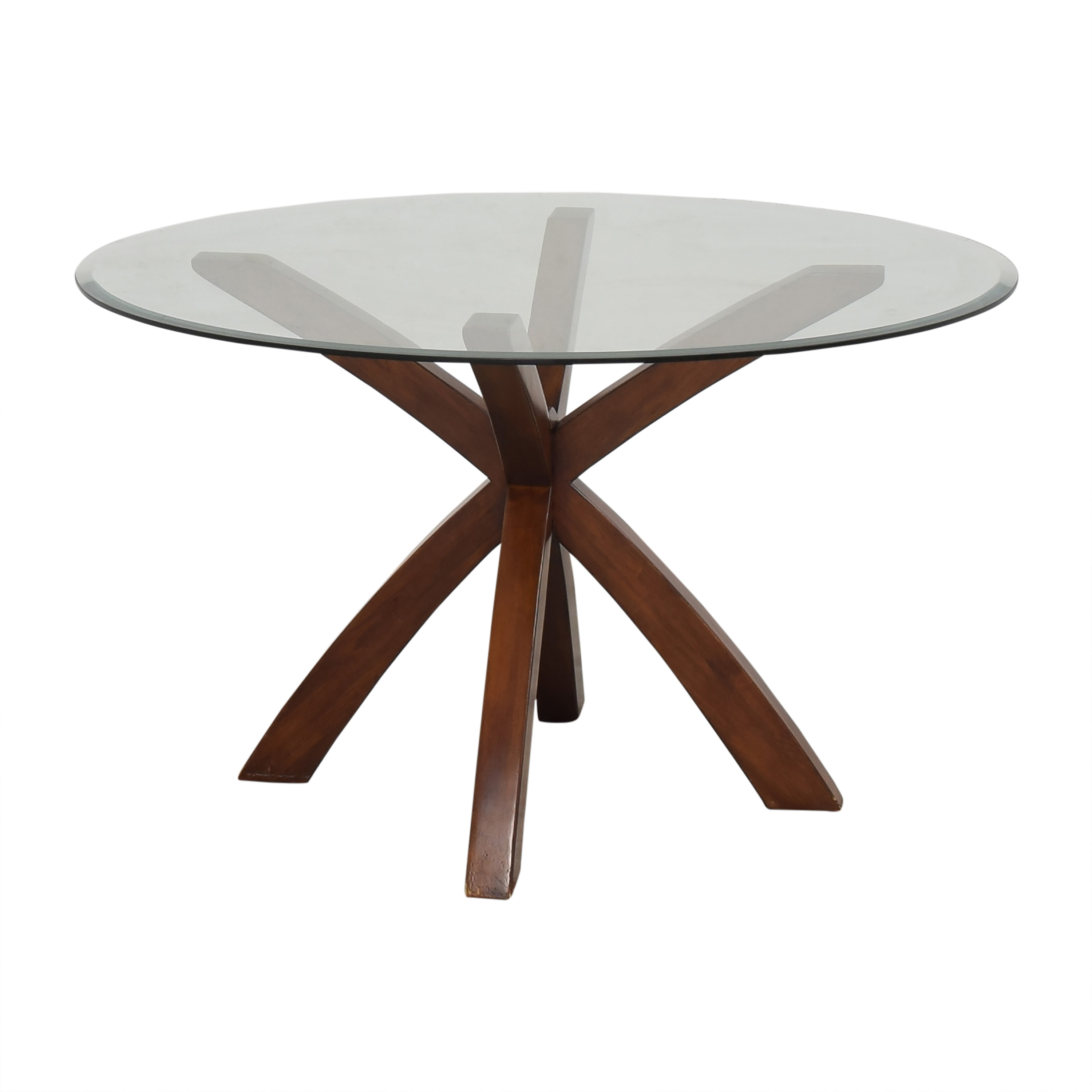 shop Glass Round Dining Table
