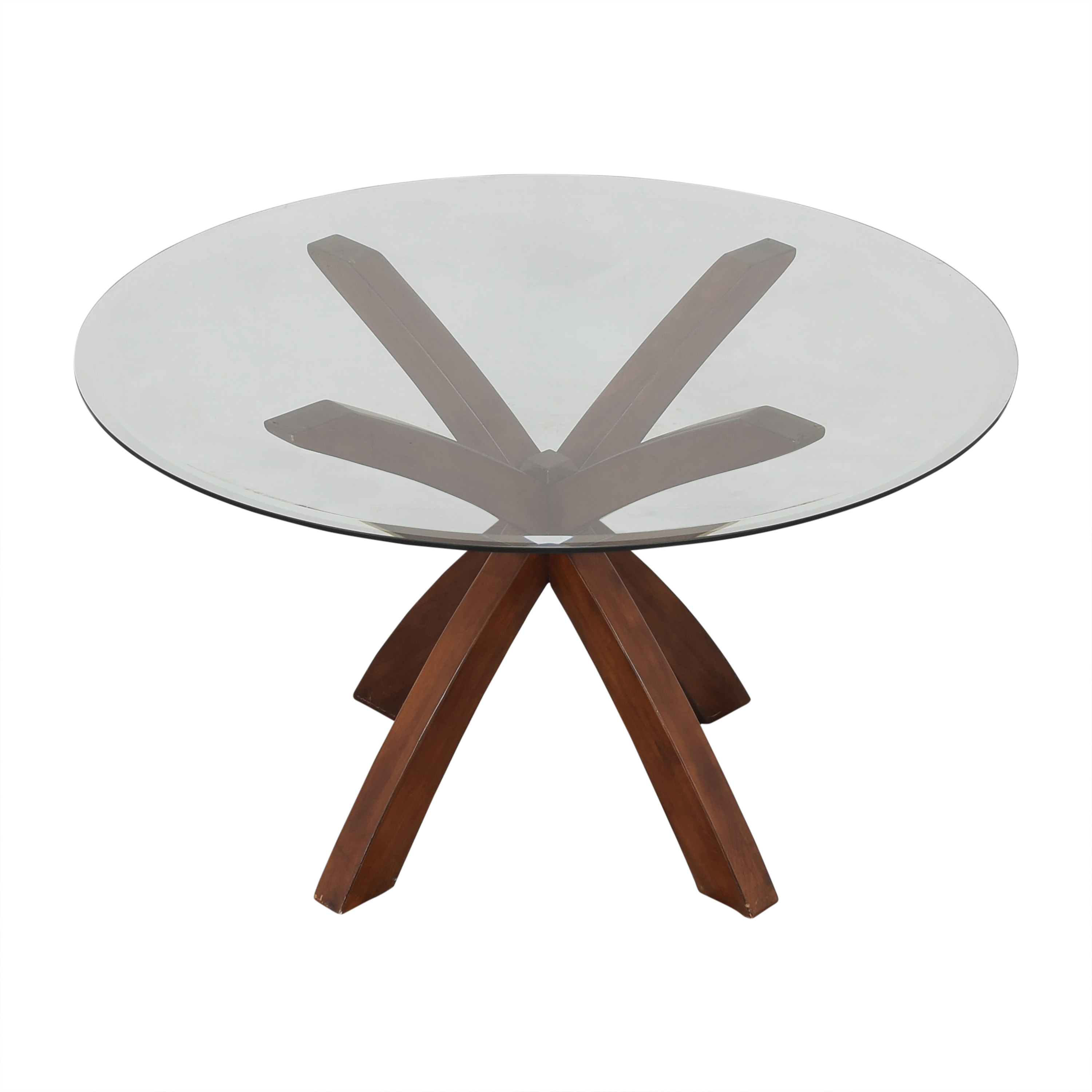 Glass Round Dining Table ma