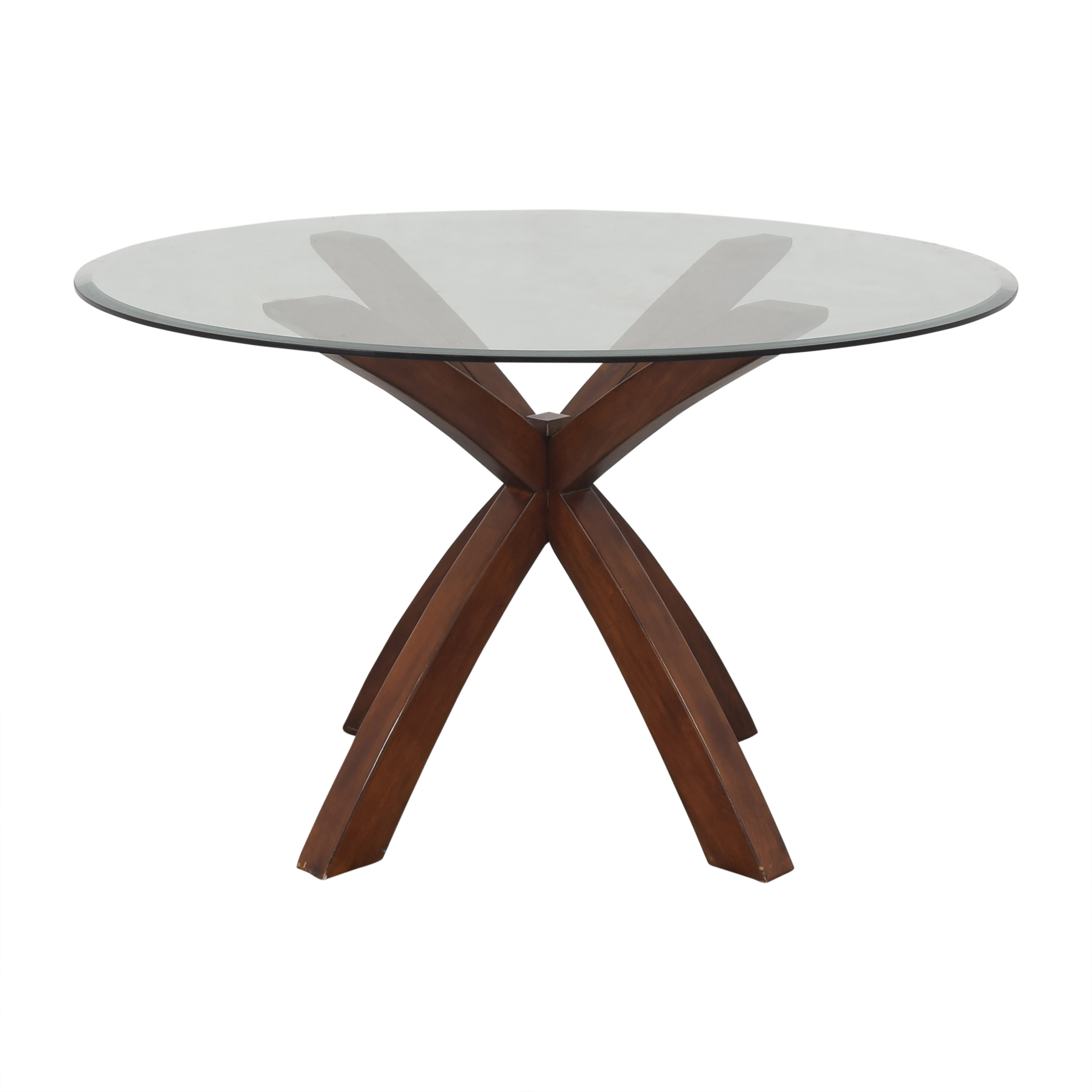 Glass Round Dining Table nj
