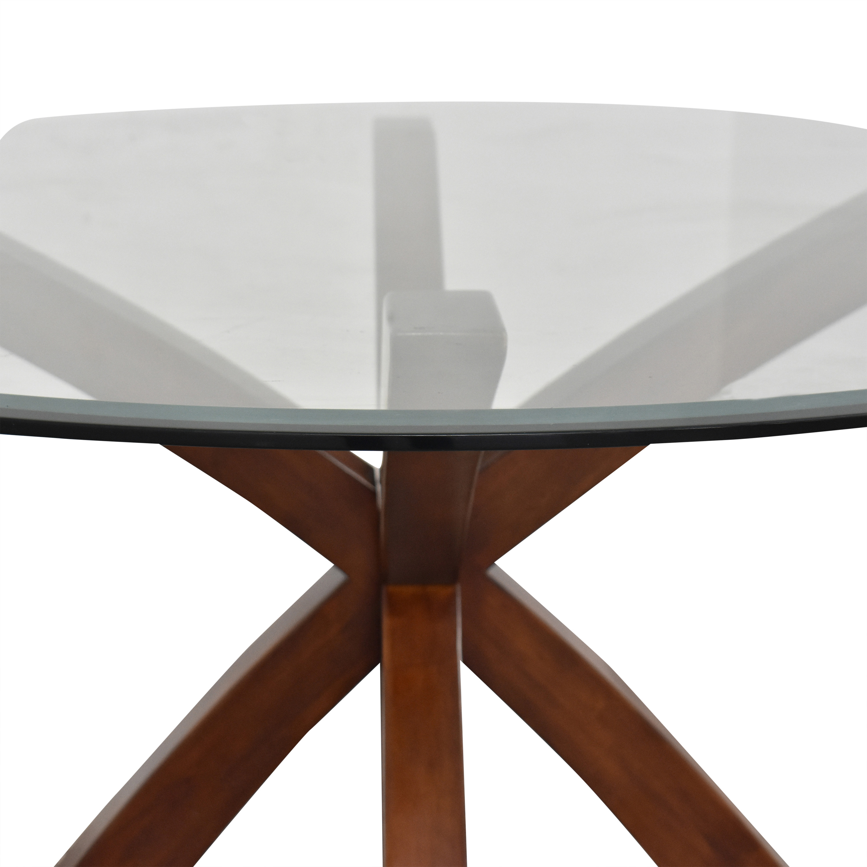 Glass Round Dining Table on sale