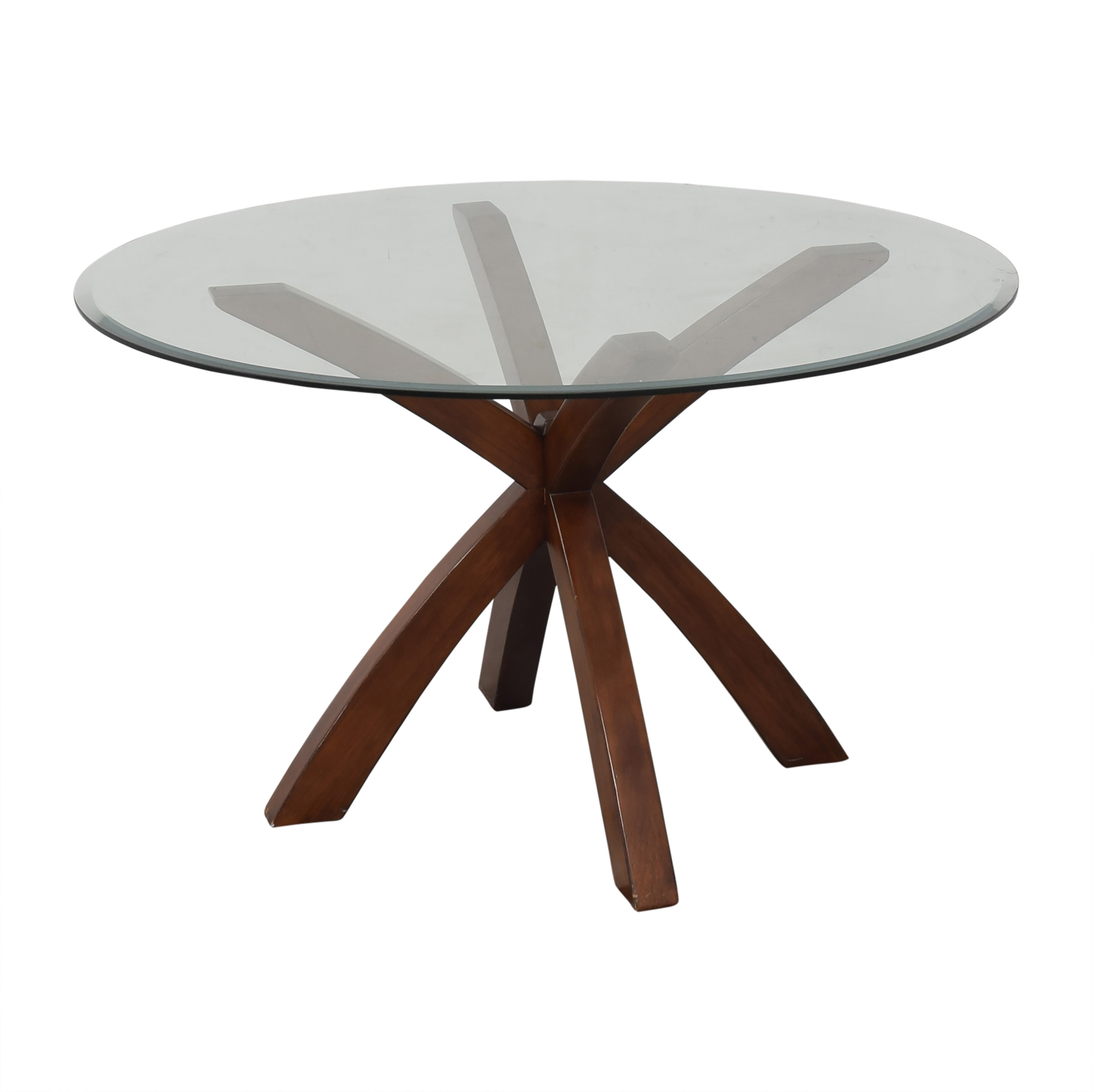 buy  Glass Round Dining Table online