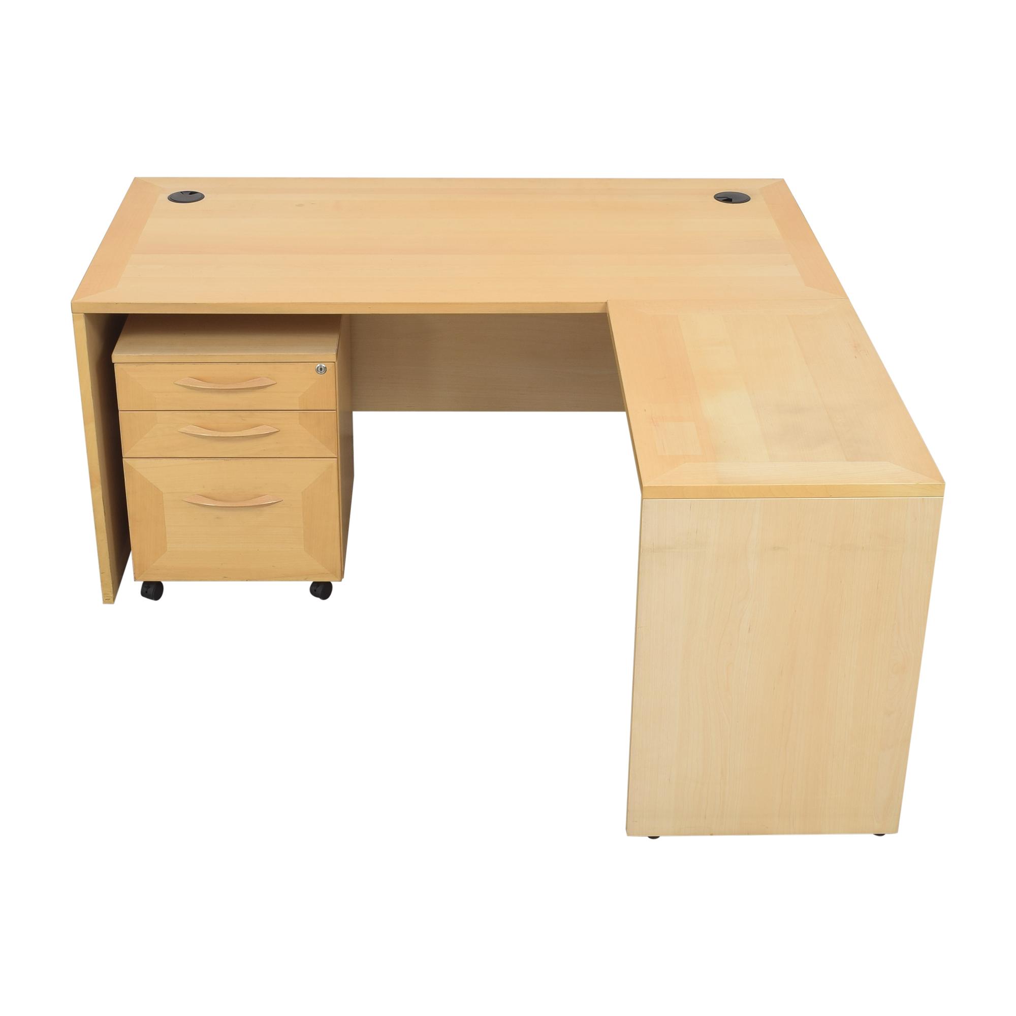 buy Door Store Desk with File Cabinet Door Store