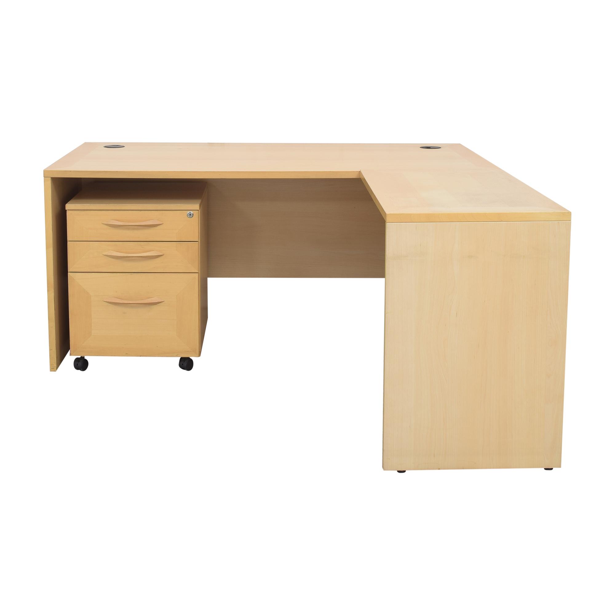 shop Door Store Desk with File Cabinet Door Store