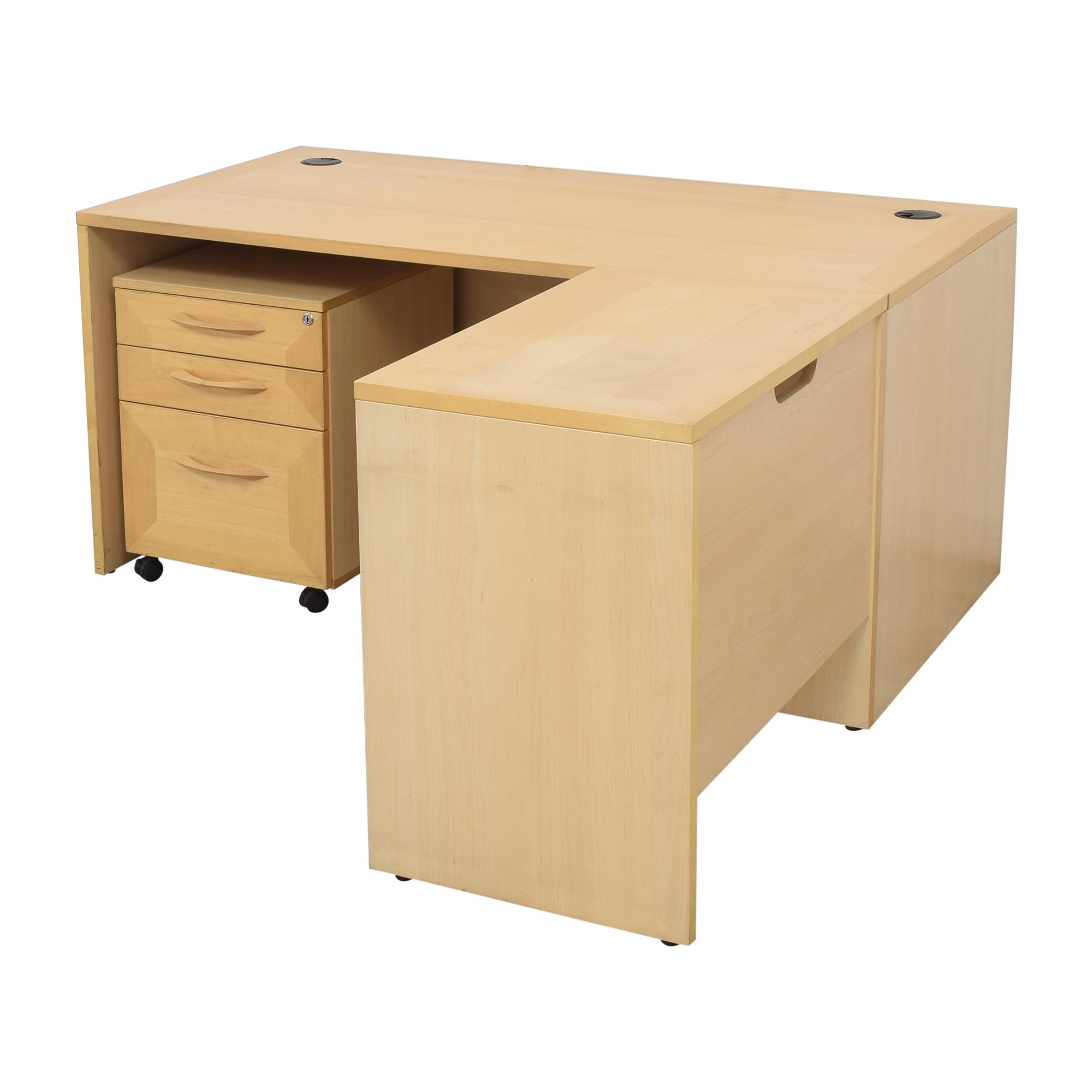 Door Store Door Store Desk with File Cabinet for sale