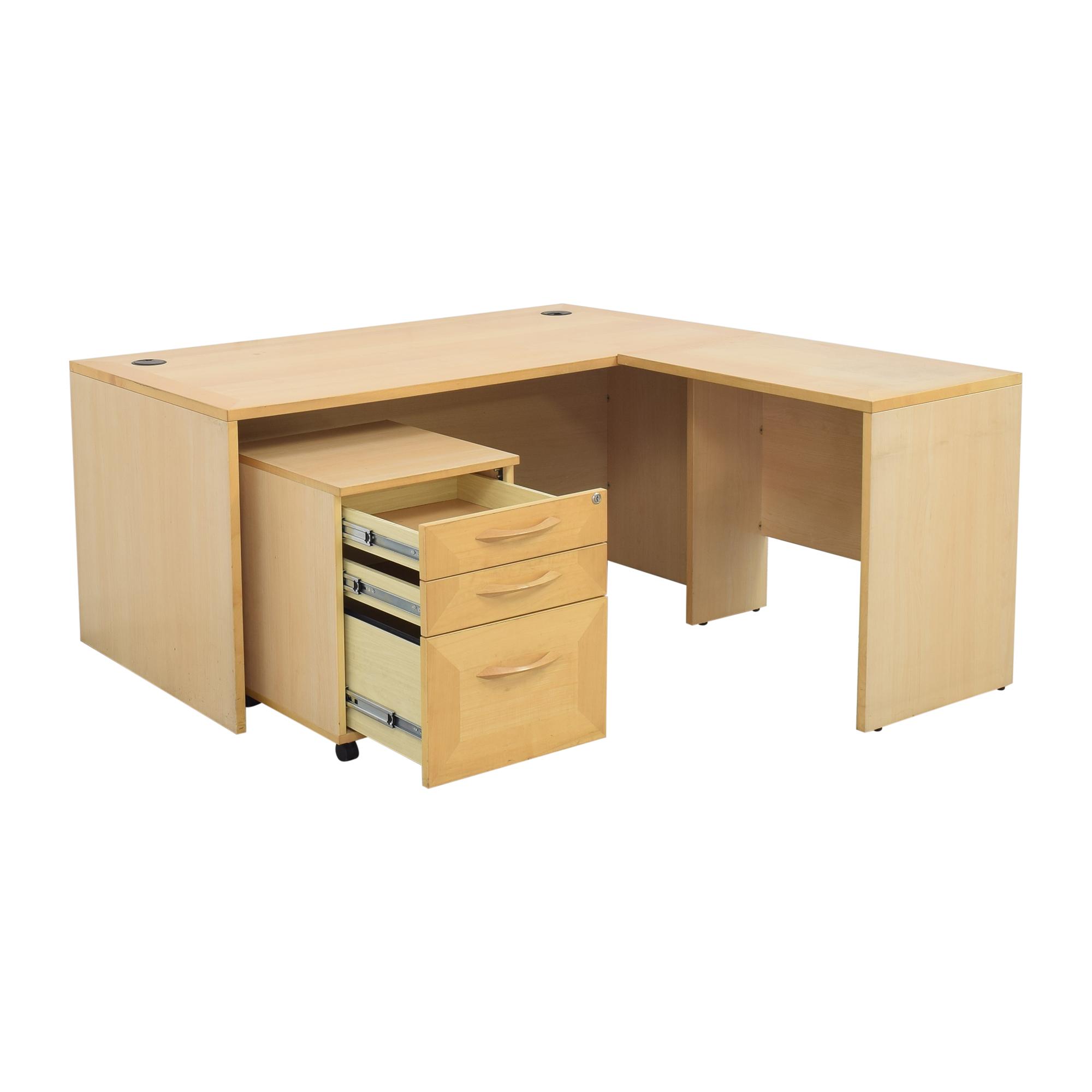 buy Door Store Desk with File Cabinet Door Store Home Office Desks