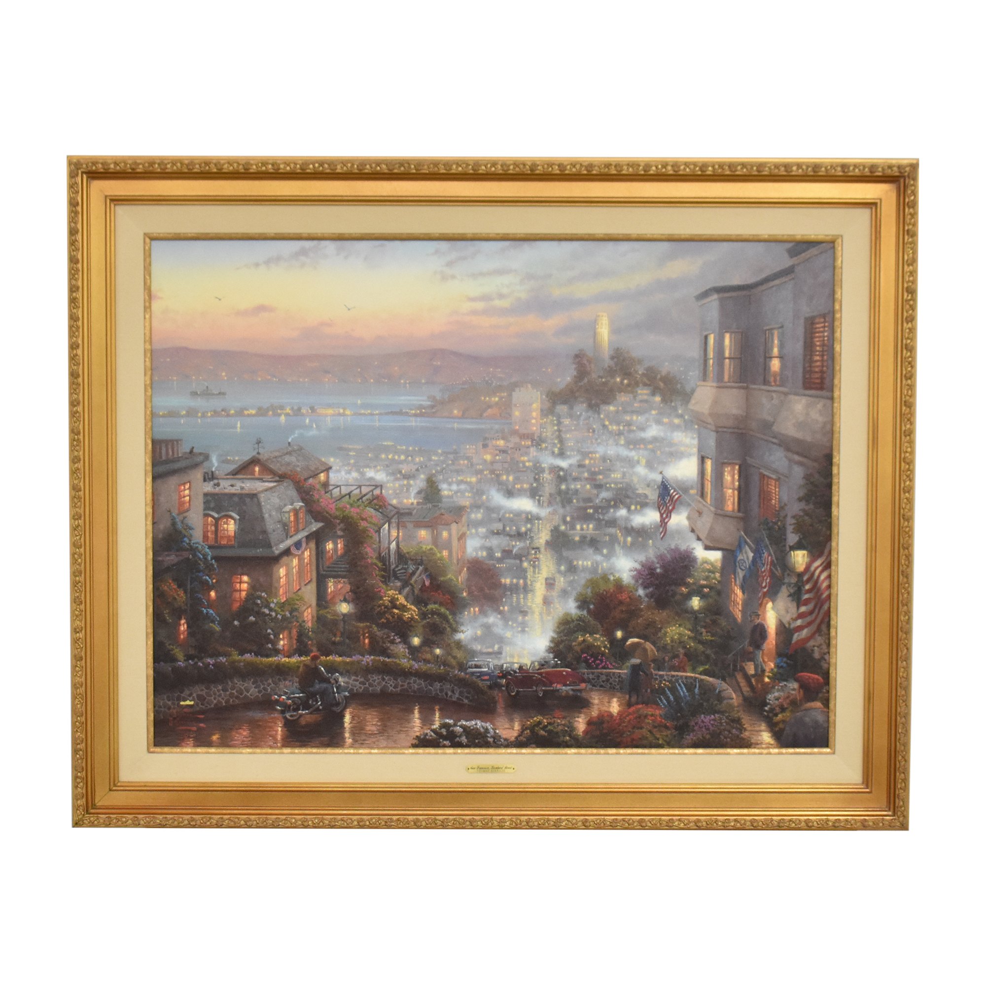 Thomas Kinkade San Francisco Lombard Street Wall Art multi