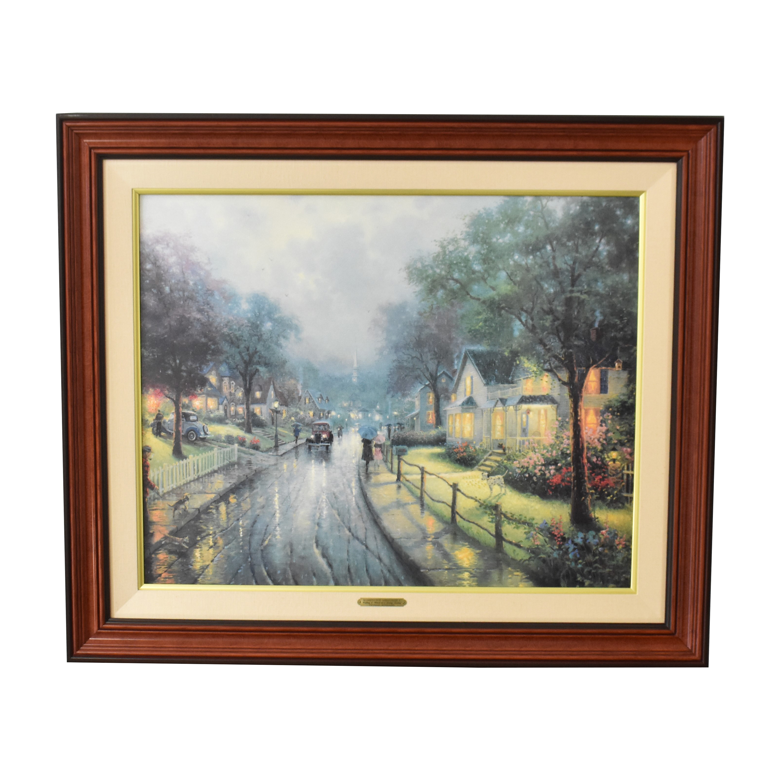 buy  Thomas Kinkade Walking To Church on a Sunday Evening Framed Print online