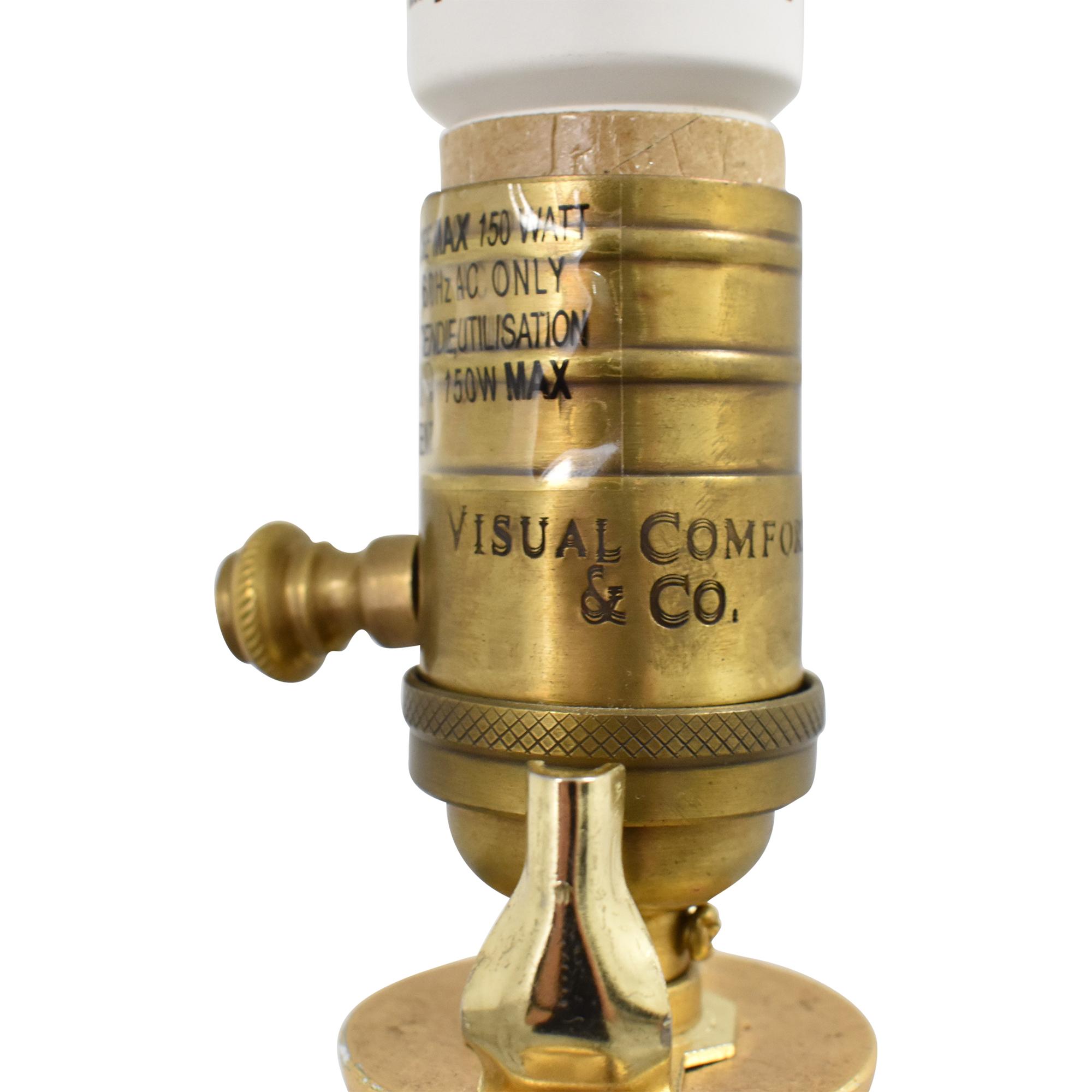 Visual Comfort Visual Comfort Dover Floor Lamp gold and beige