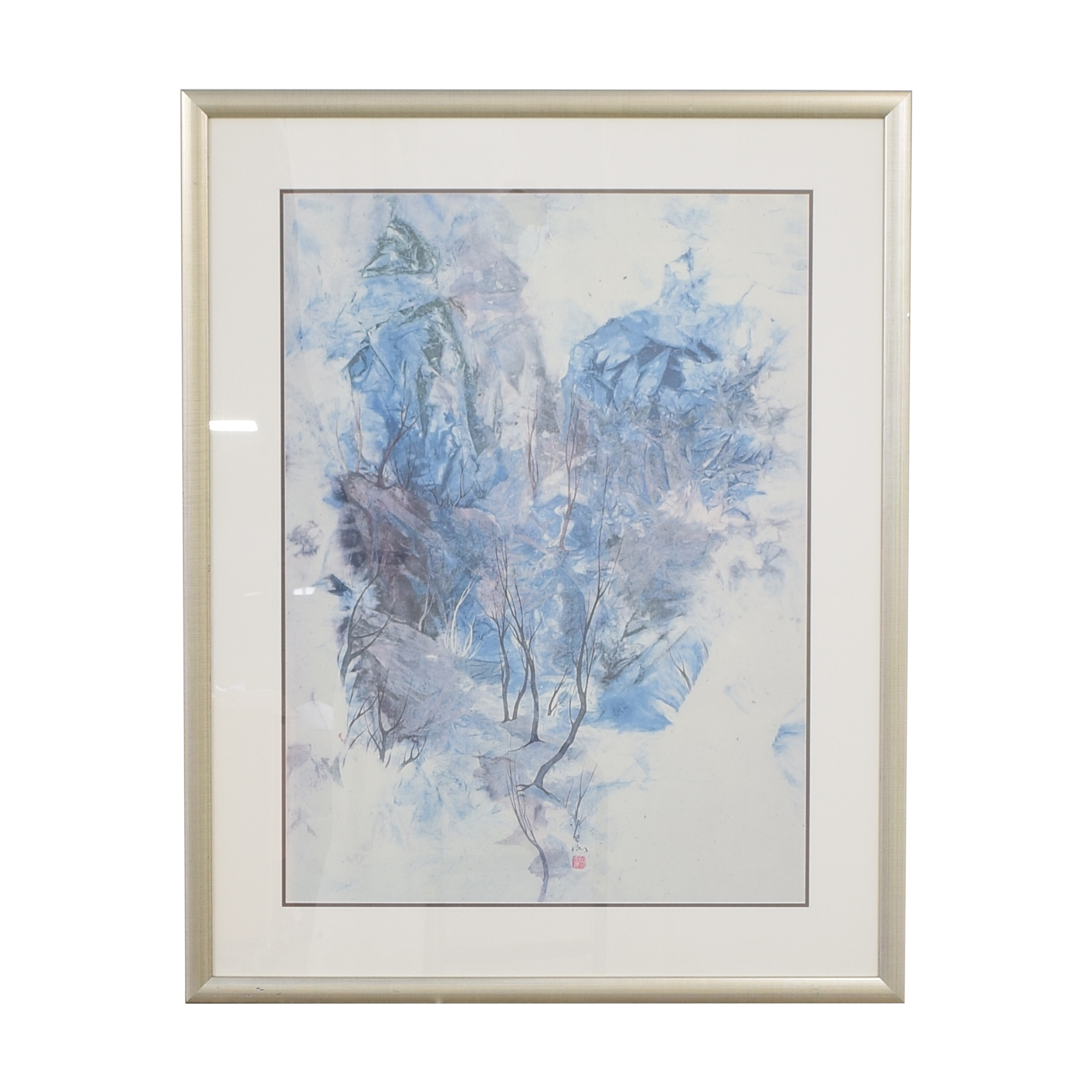 shop Cold Clouds and Weathered Trees Framed Print  Wall Art