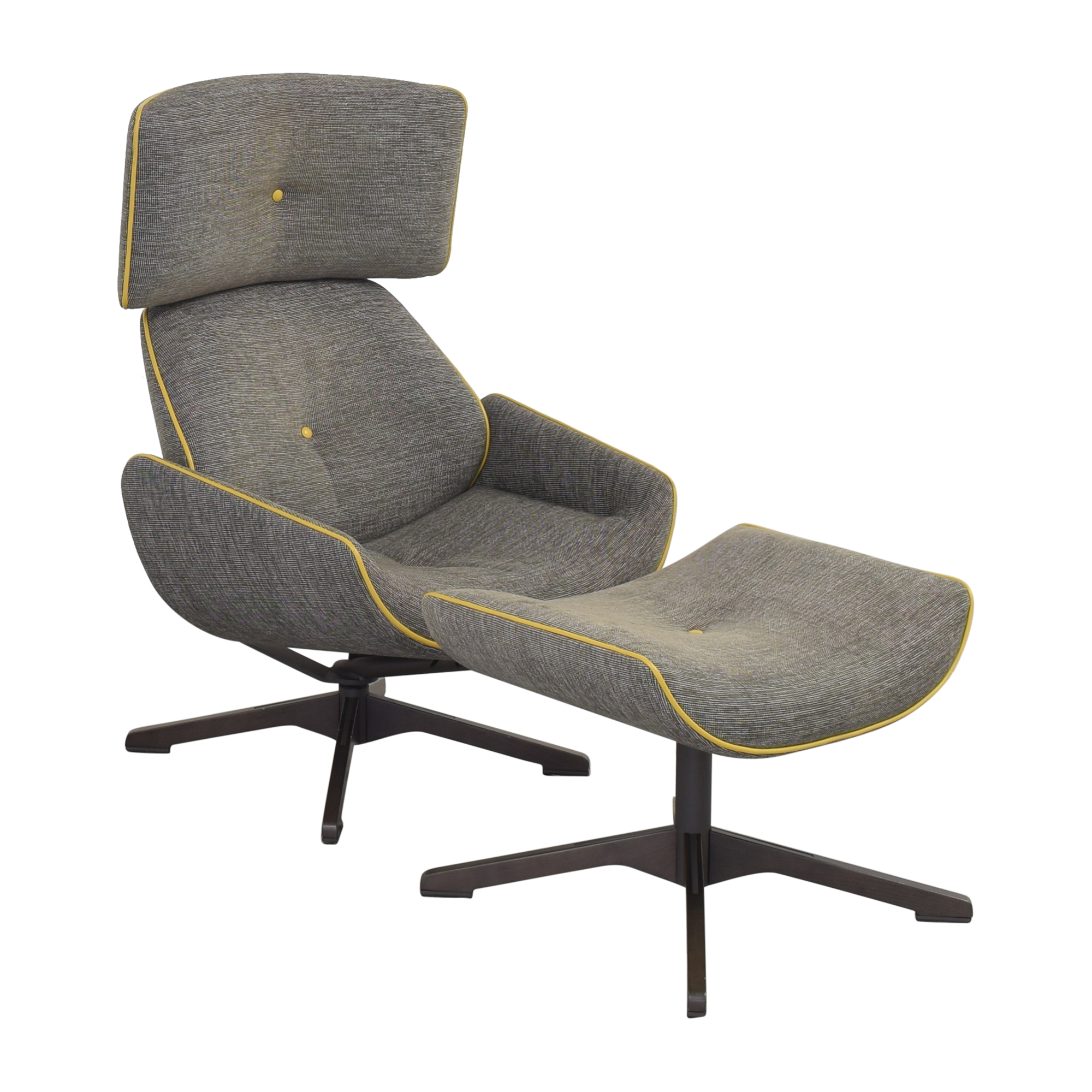 shop Roche Bobois Quiet Life Armchair and Footstool Roche Bobois Chairs