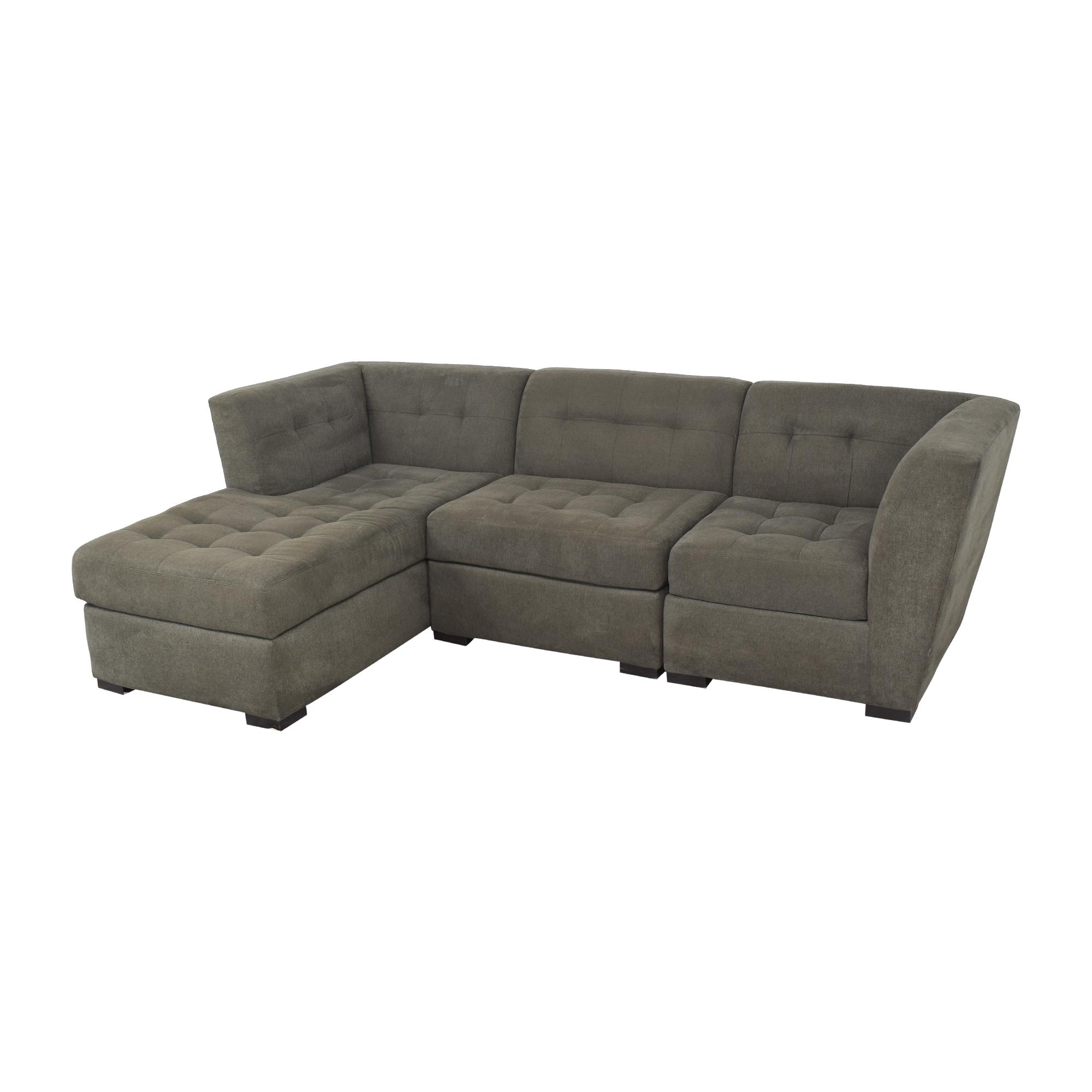 Macy's Macy's Roxanne II Chaise Sectional Sofa nj