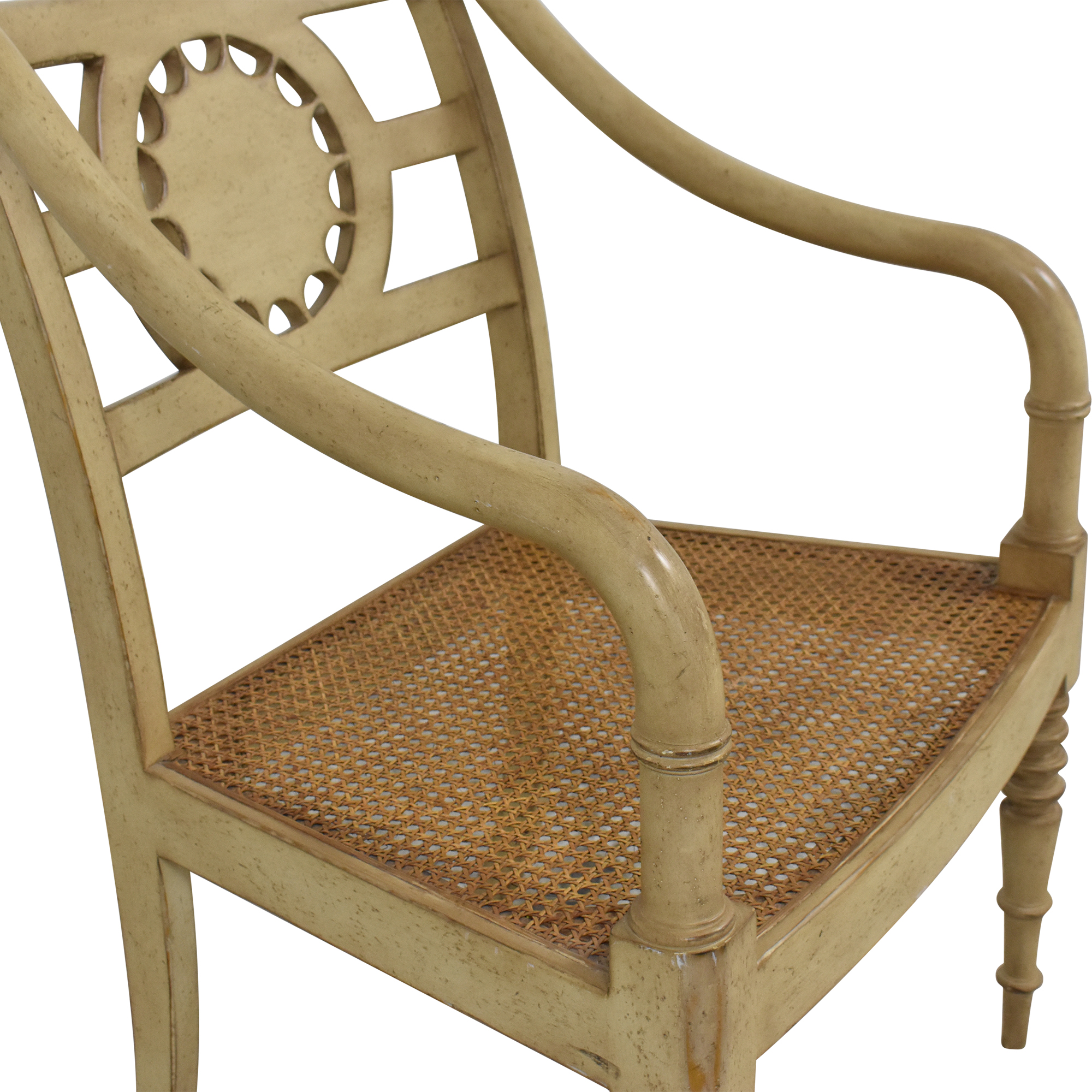 Baker Furniture Baker Furniture Cane Seat Accent Chair dimensions