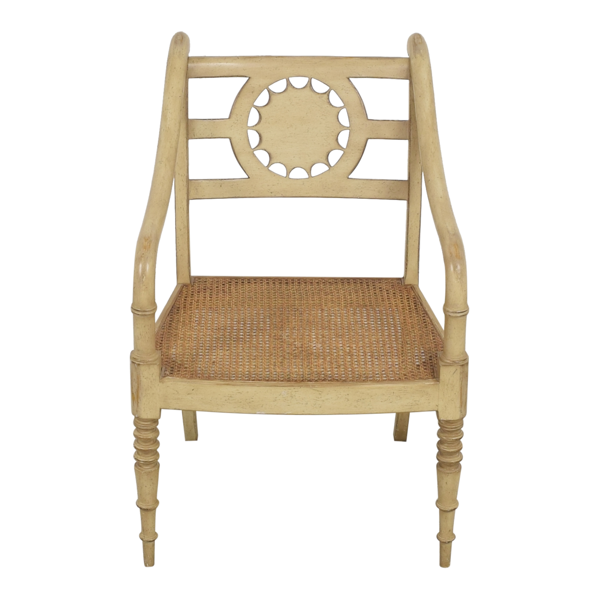 Baker Furniture Baker Furniture Cane Seat Accent Chair for sale