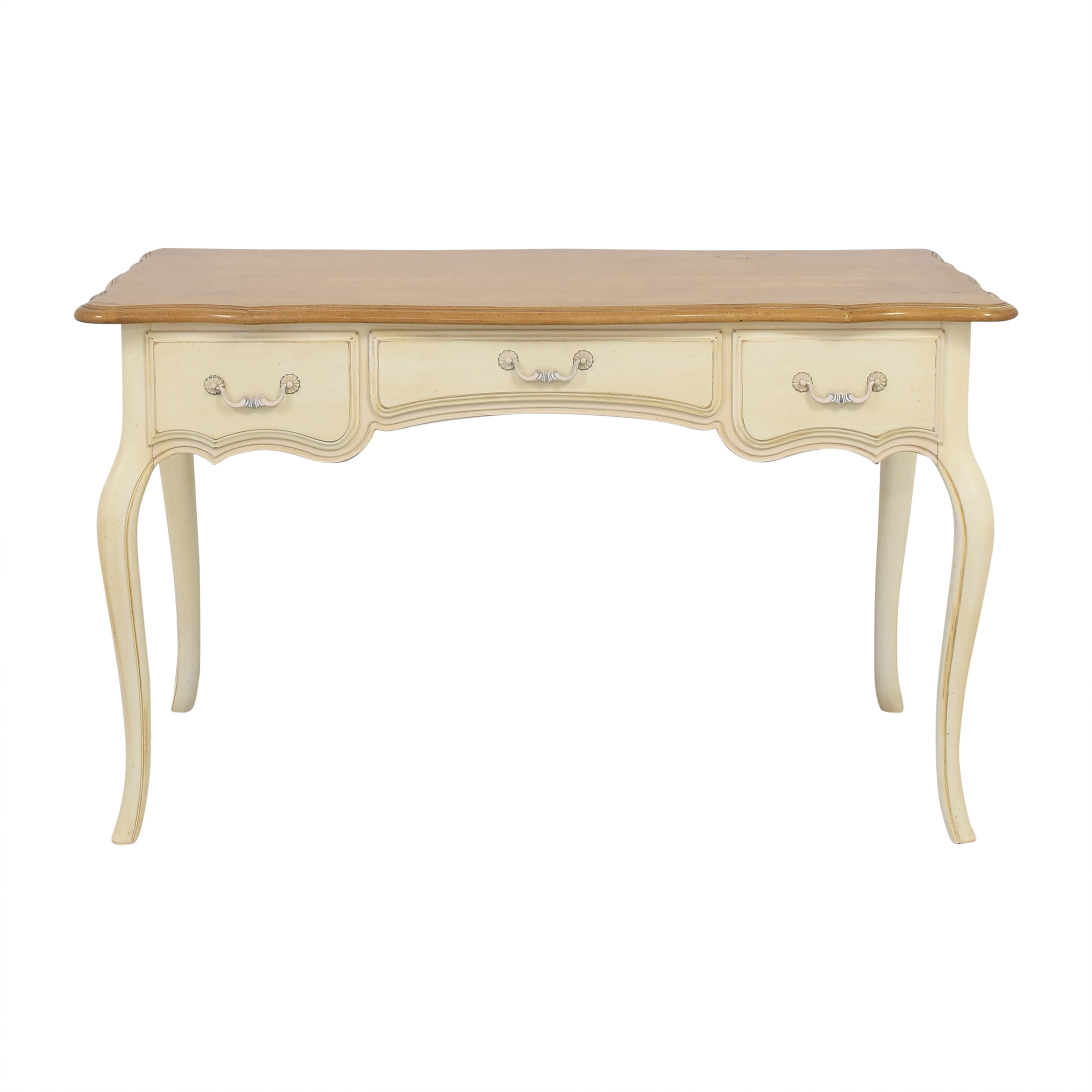 shop Ethan Allen French Country Three Drawer Desk Ethan Allen