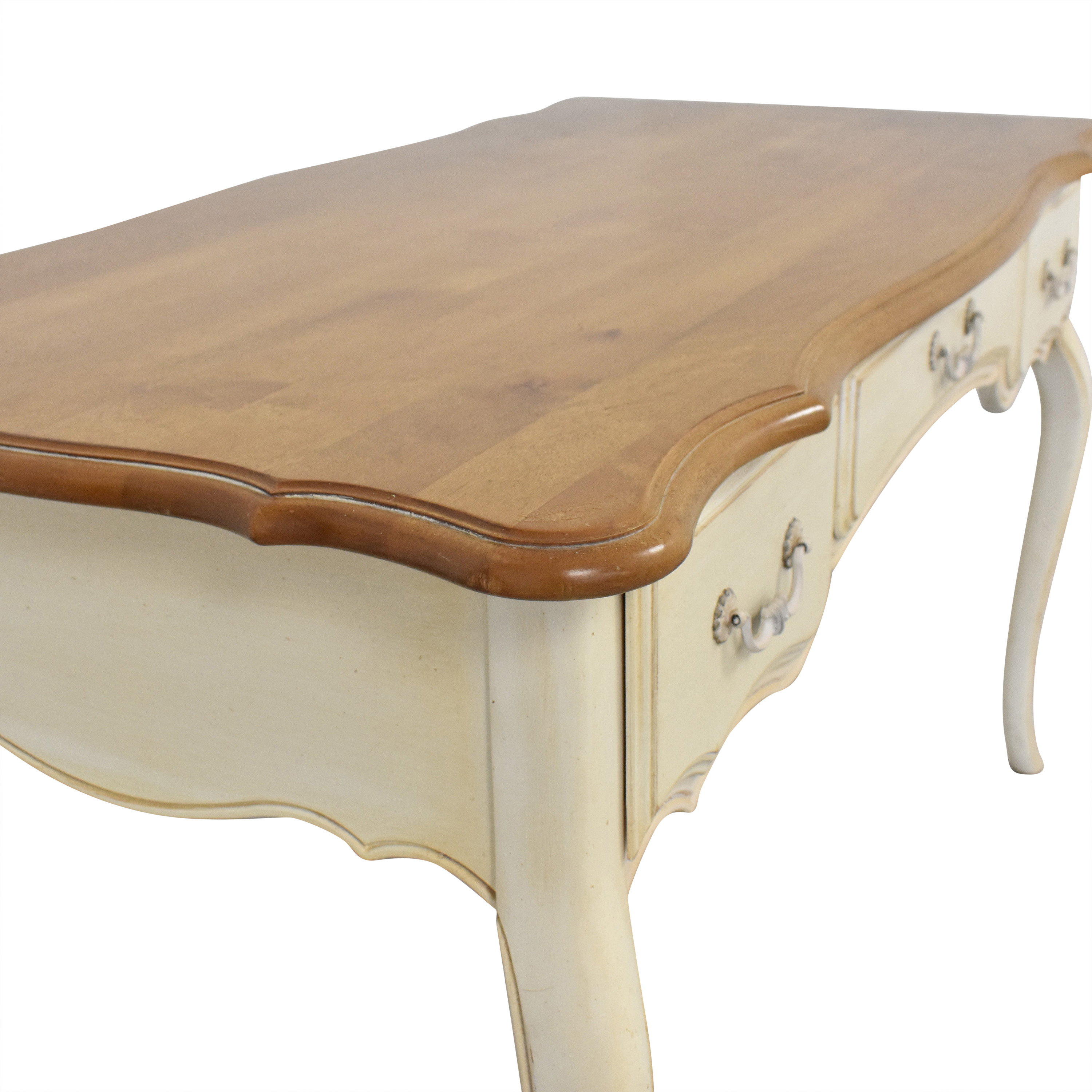 shop Ethan Allen French Country Three Drawer Desk Ethan Allen Tables