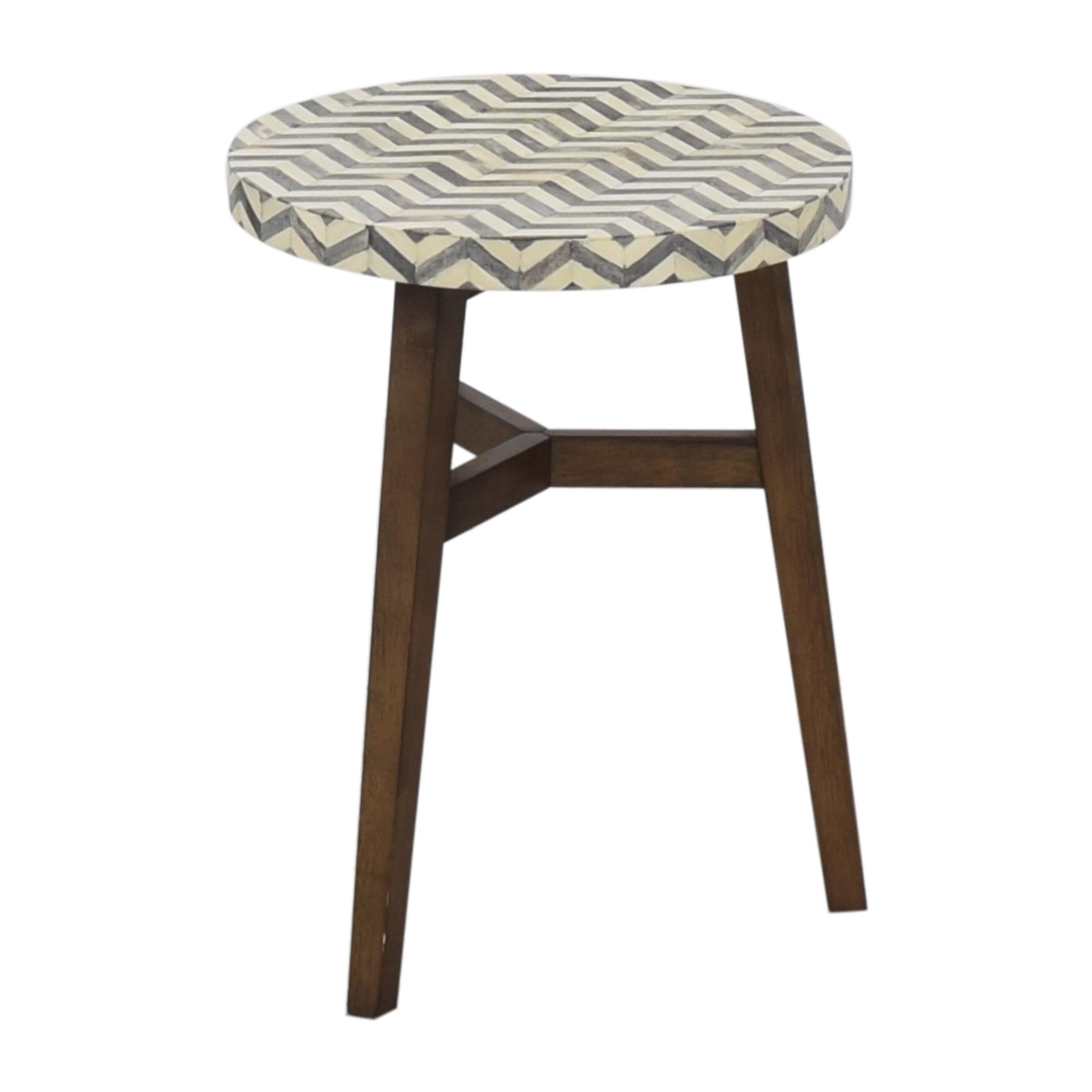 West Elm West Elm Chevron Bone Side Table Tables