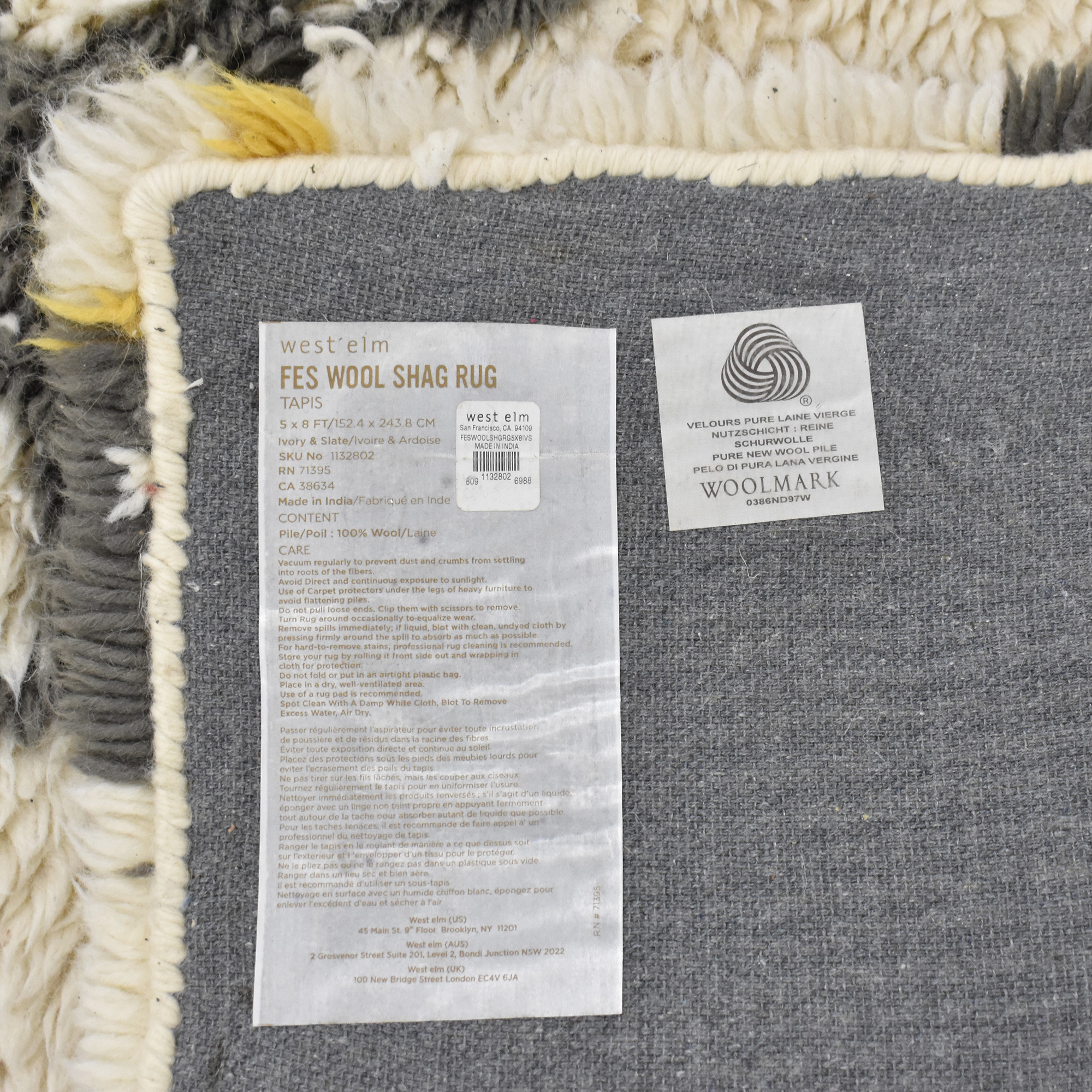 West Elm West Elm Fes Wool Shag Rug discount