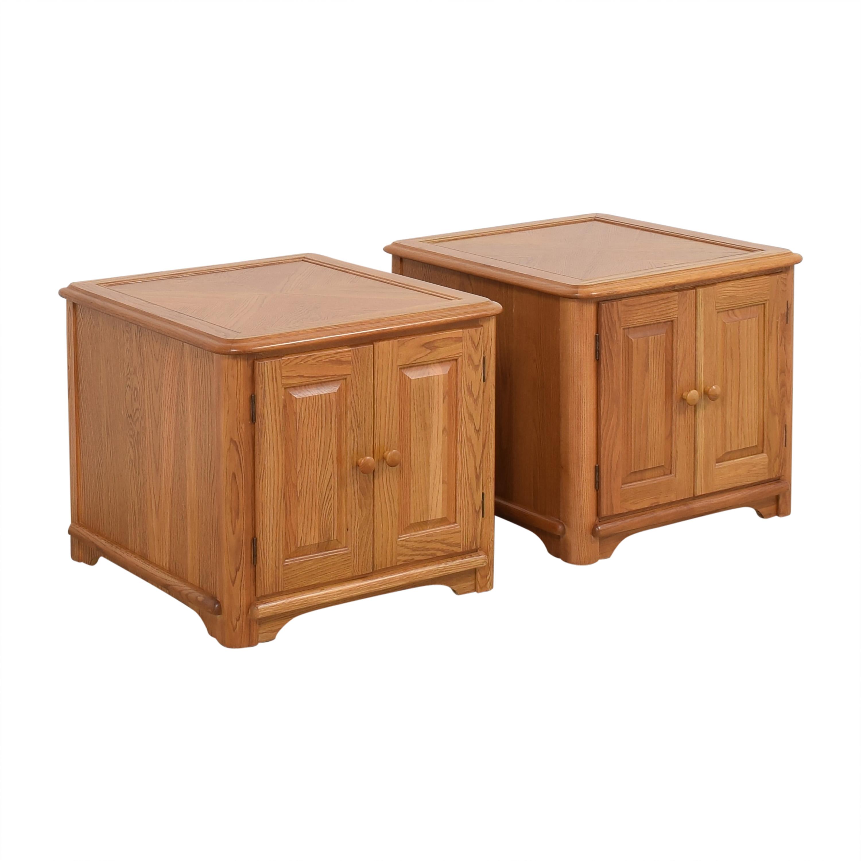 Riverside Furniture Riverside Furniture Two Door End Tables