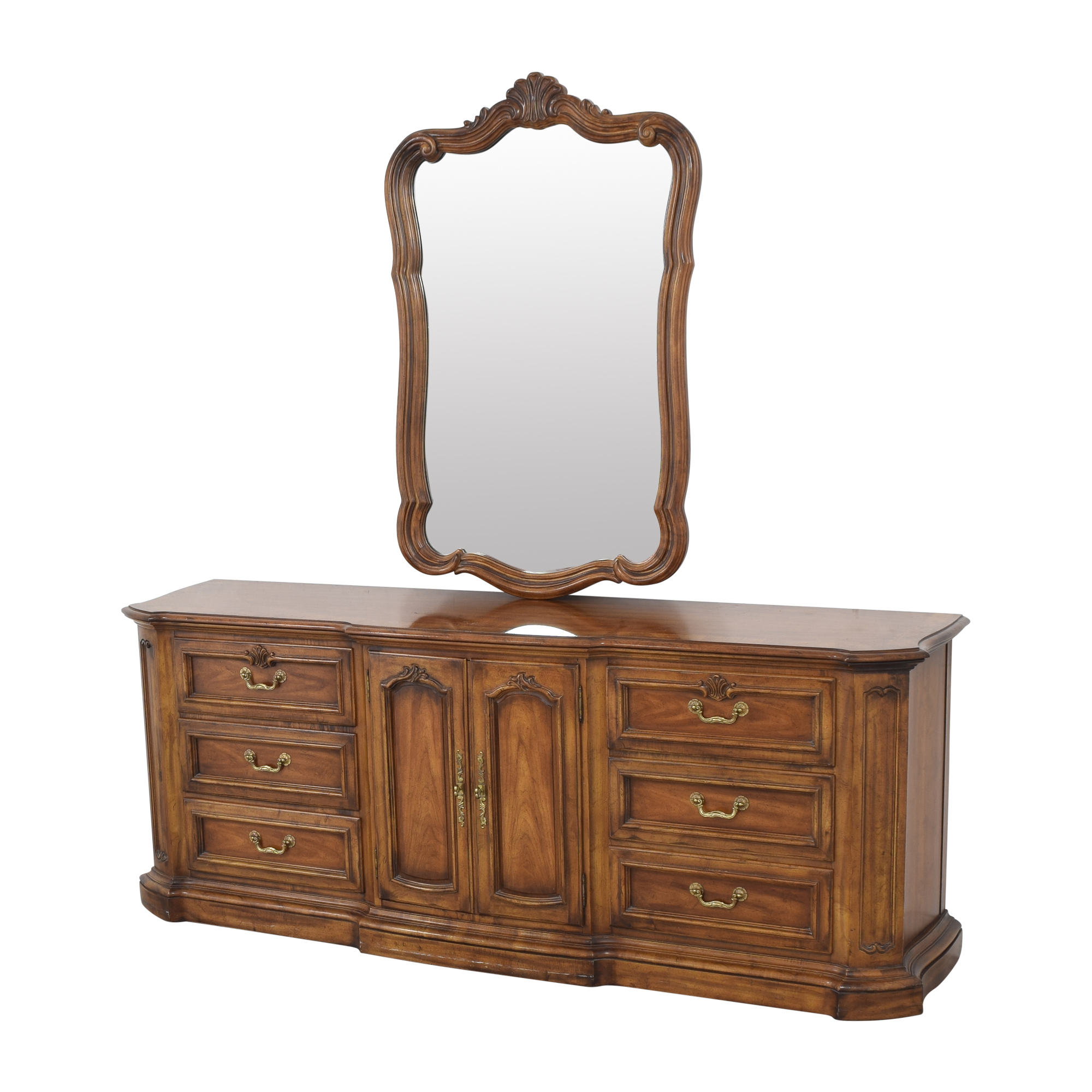 shop Heritage French Country Triple Dresser with Mirror Heritage Storage