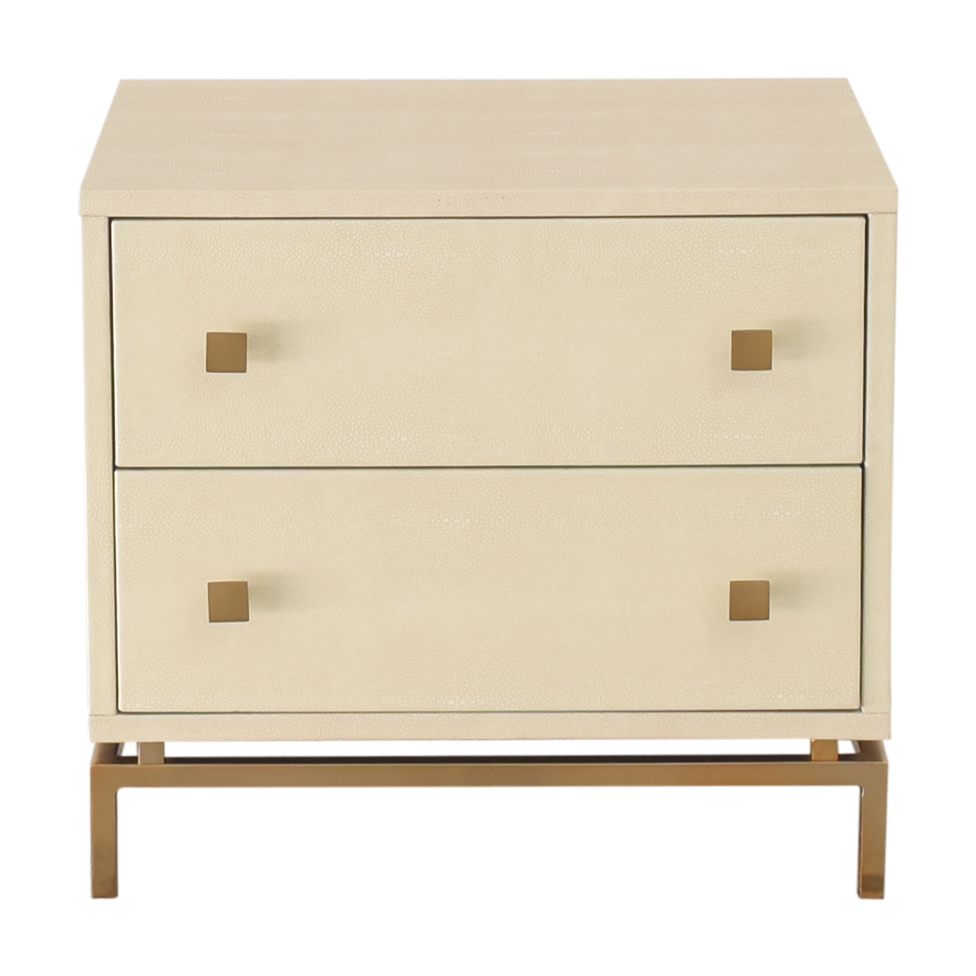 CB2 Shagreen Embossed Nightstand / Tables