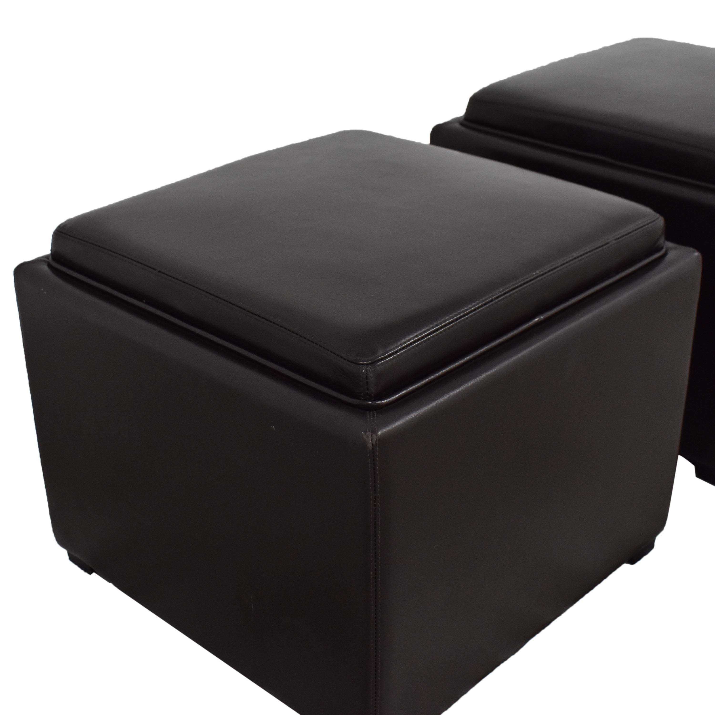 Crate & Barrel Crate & Barrel Stow Ottomans with Storage discount
