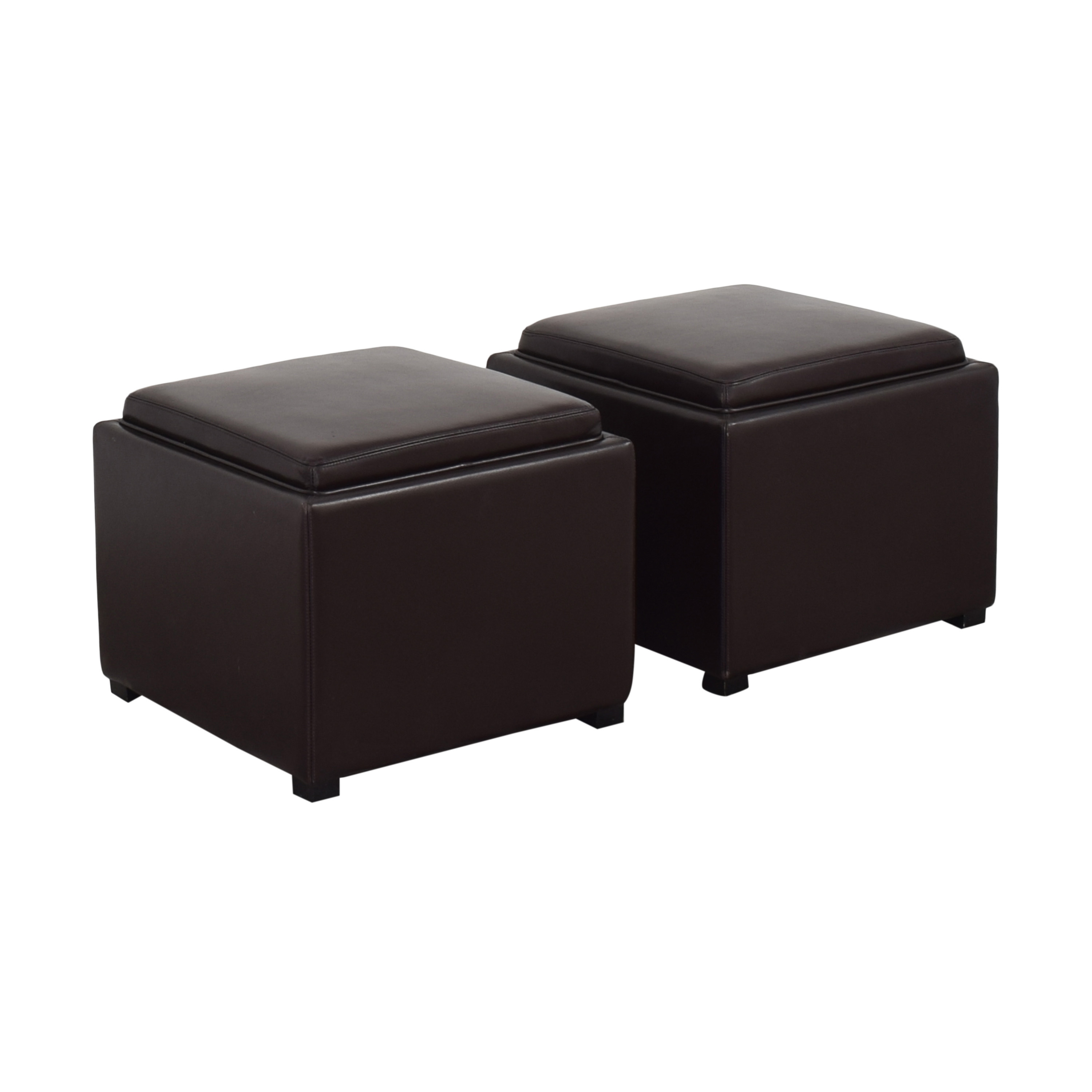 Crate & Barrel Crate & Barrel Stow Ottomans with Storage price