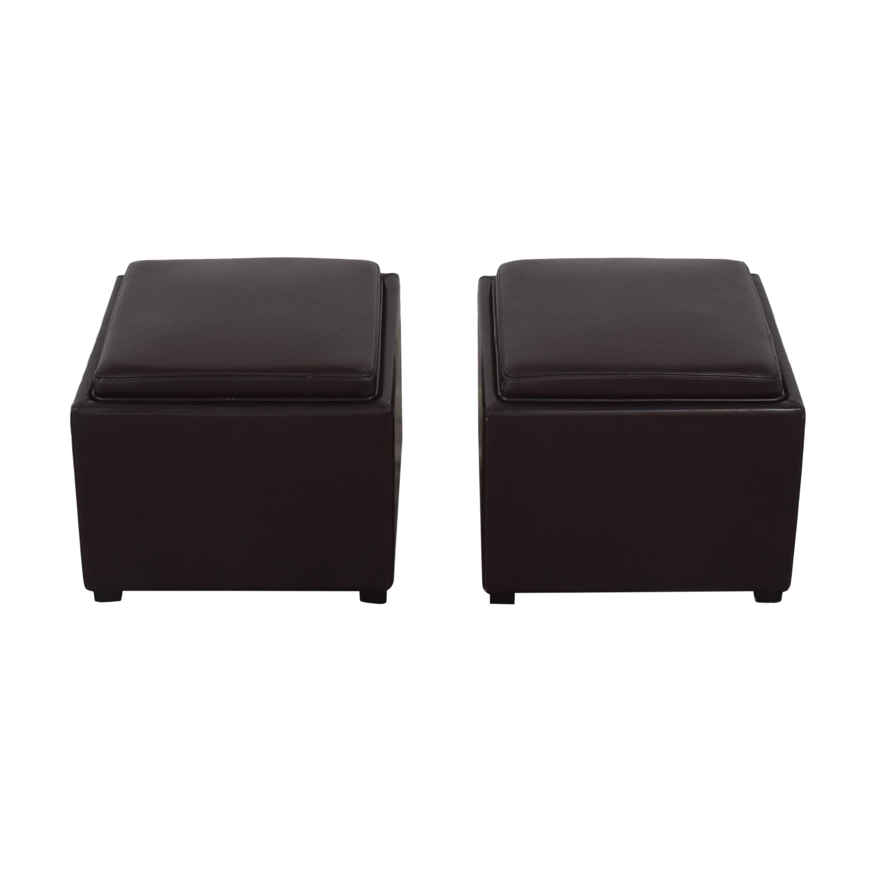 Crate & Barrel Stow Ottomans with Storage / Chairs