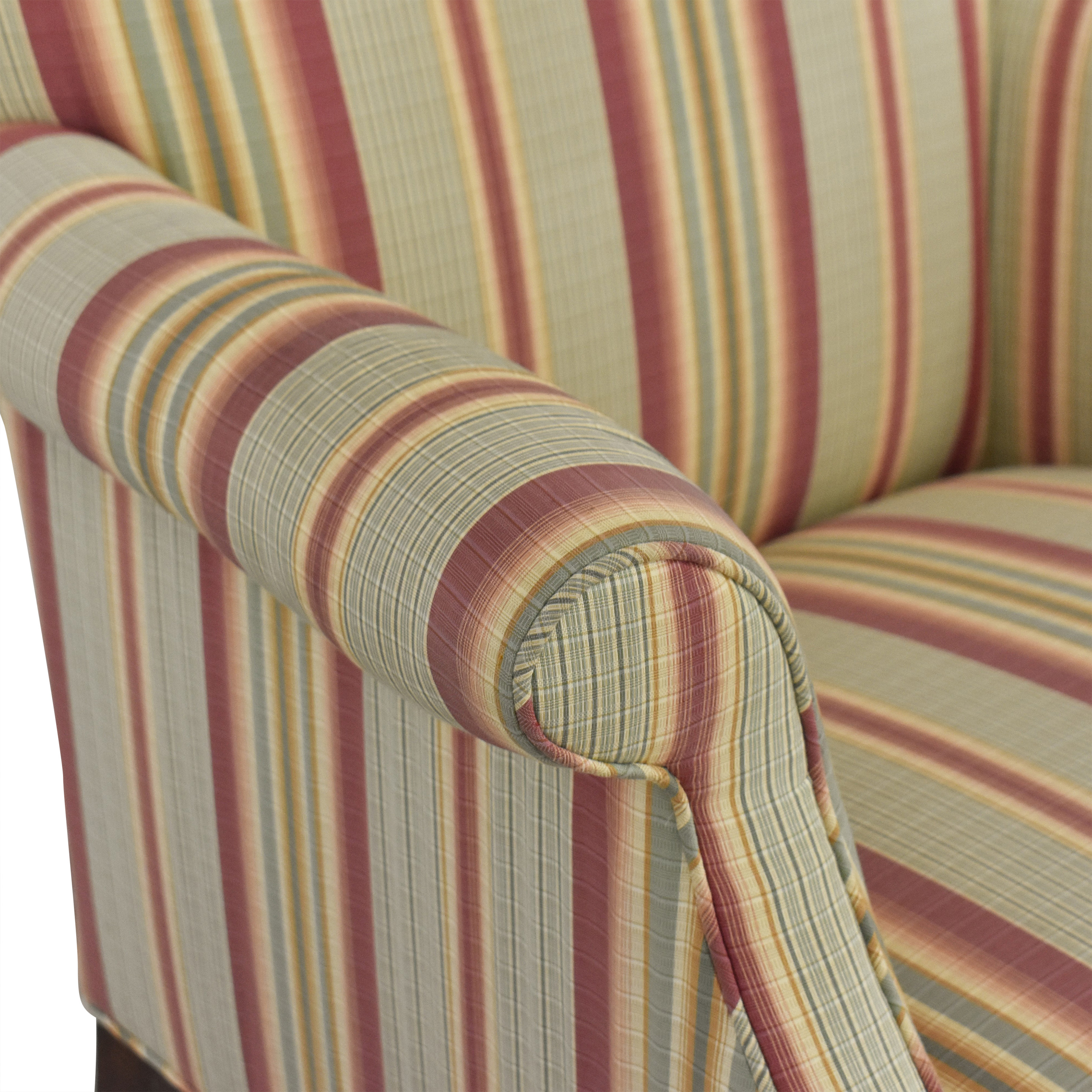 Edward Ferrell Striped Accent Chair / Accent Chairs