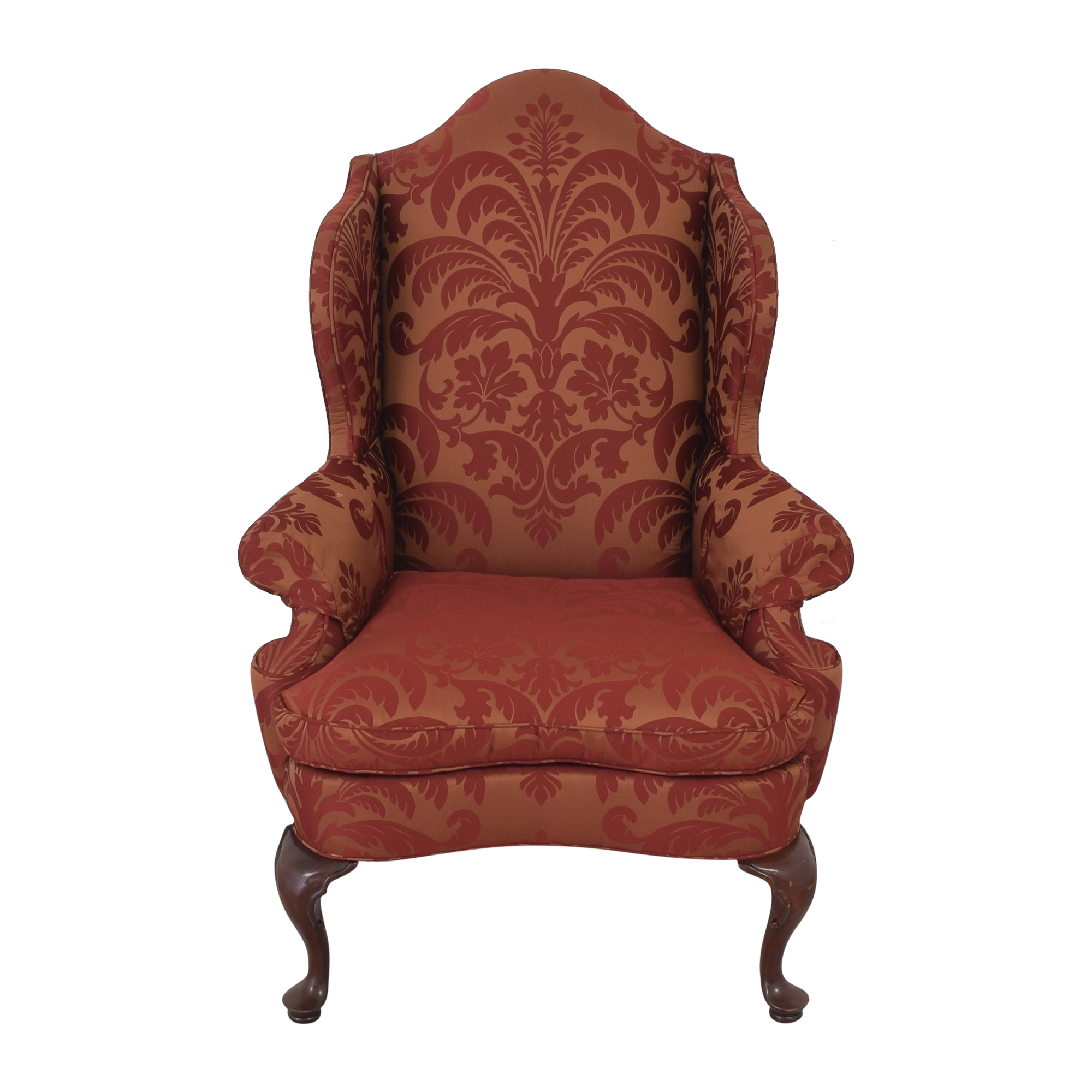 shop Southwood Damask Wingback Chair Southwood Accent Chairs