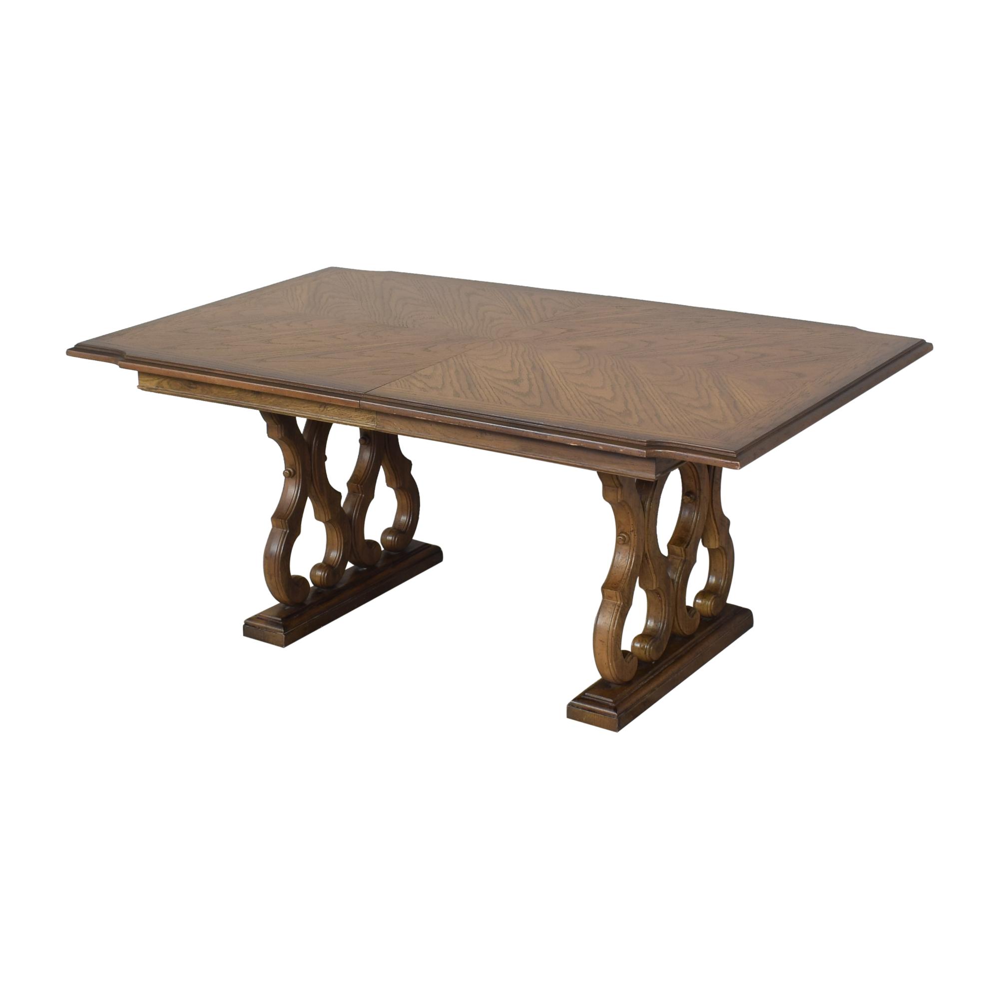 Huffman Koos Huffman Koos Two Pedestal Extending Dining Table used
