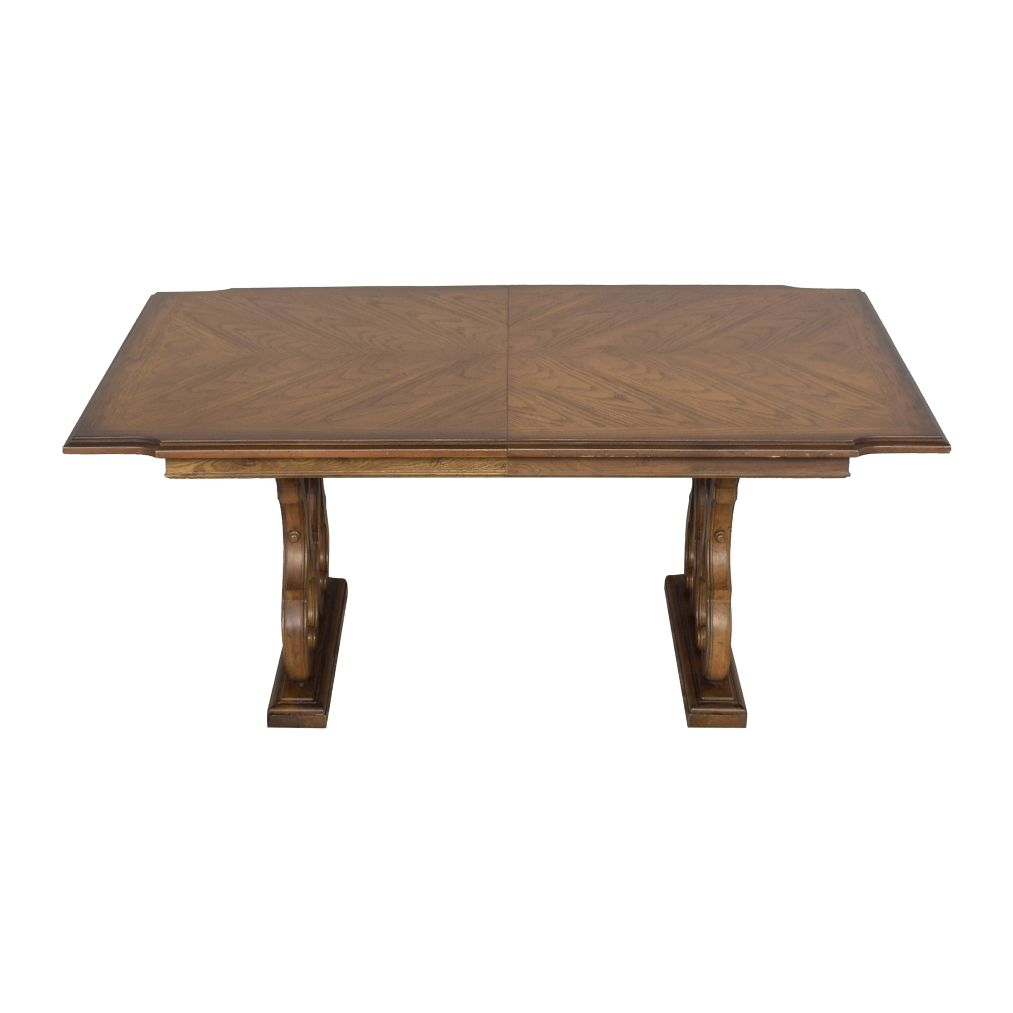Huffman Koos Huffman Koos Two Pedestal Extending Dining Table nyc