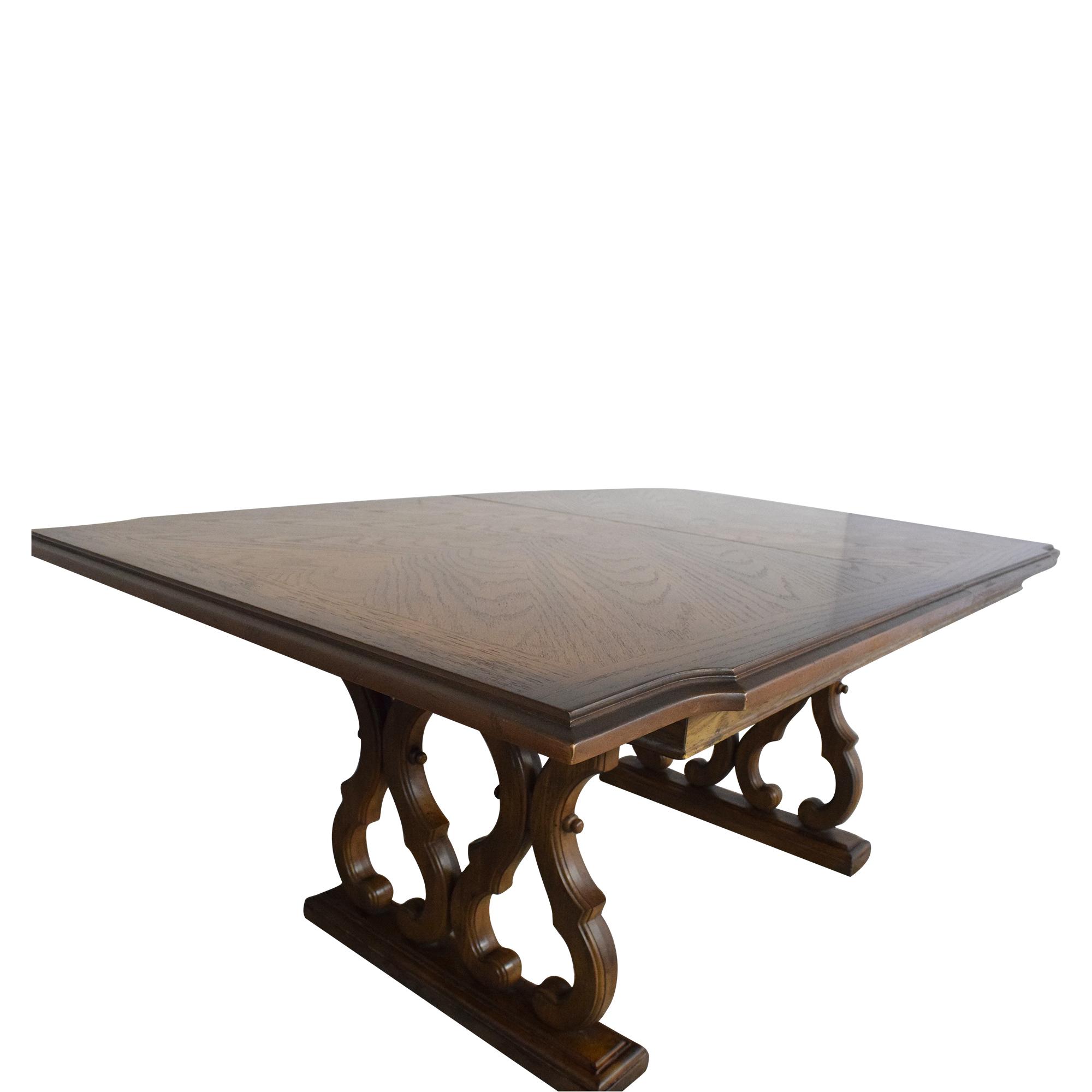 Huffman Koos Huffman Koos Two Pedestal Extending Dining Table dimensions