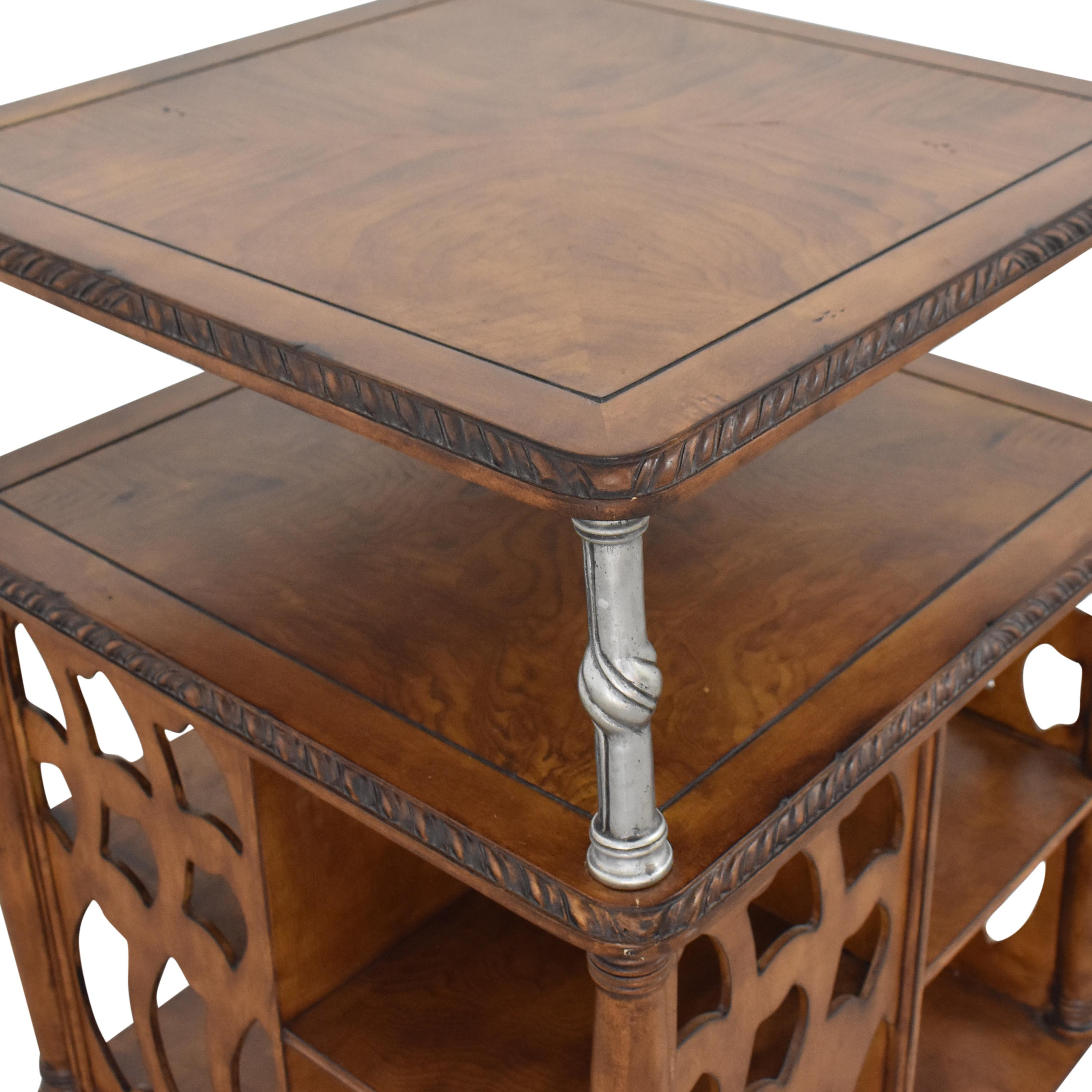 Vintage Style Swivel Accent Table second hand