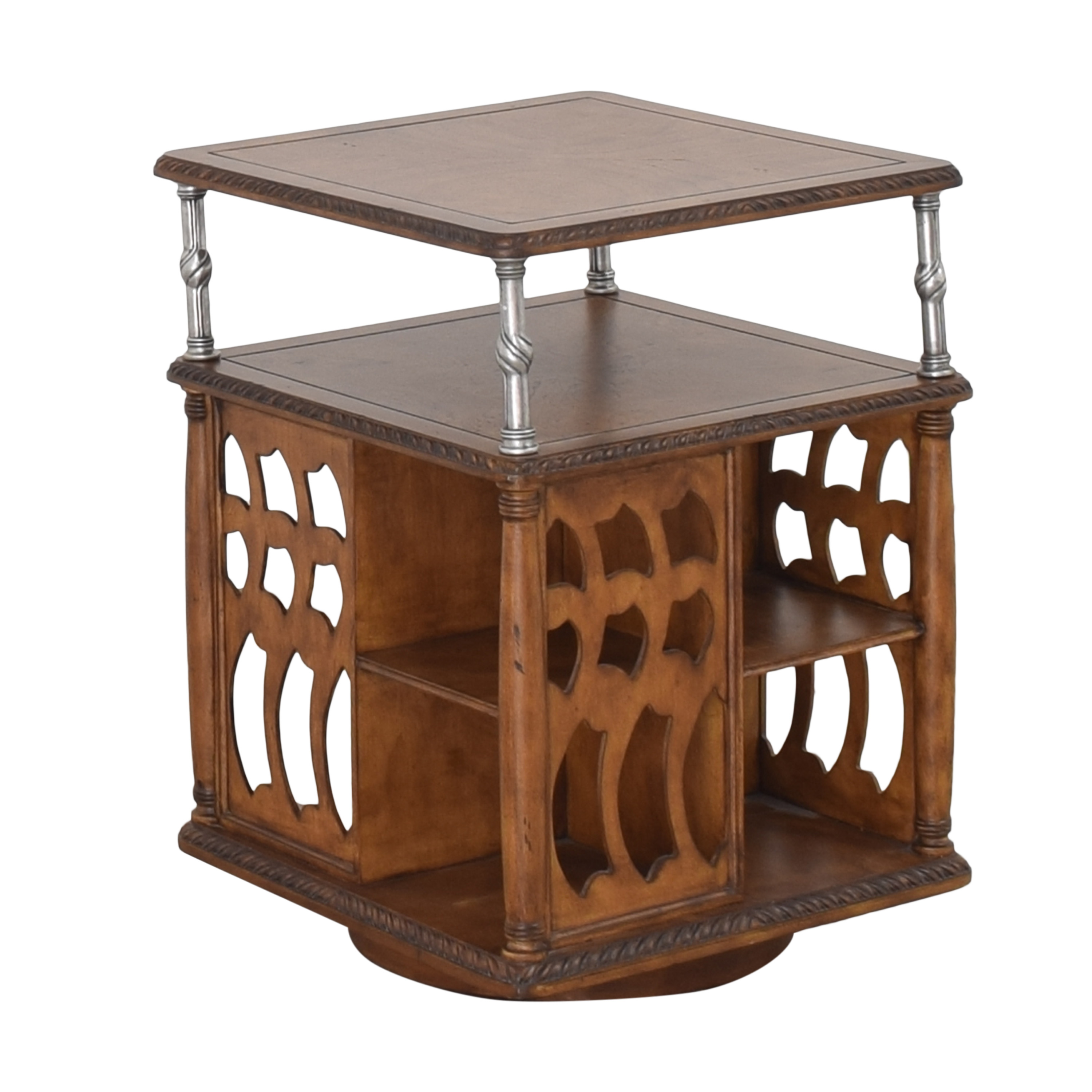 Vintage Style Swivel Accent Table dimensions