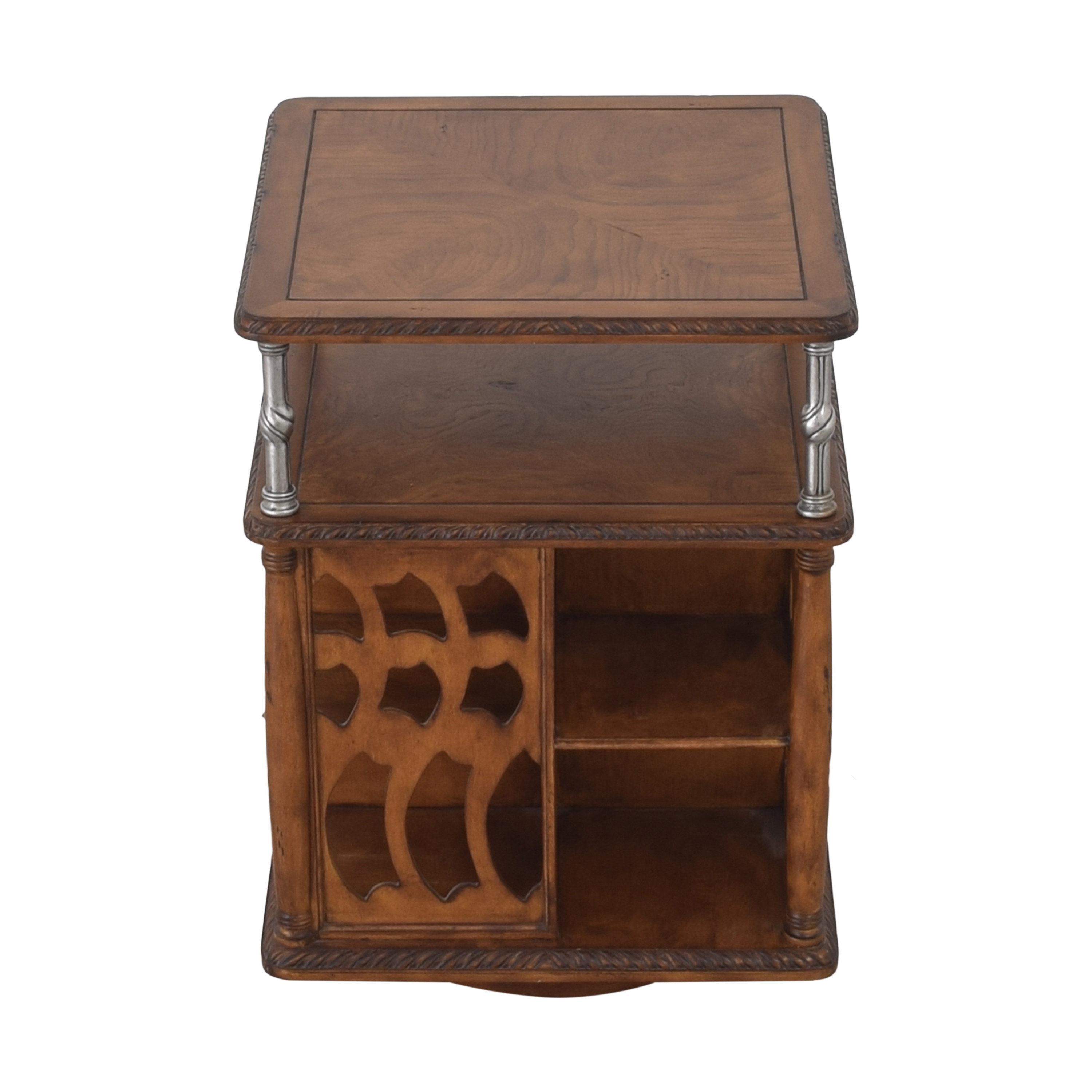 buy Vintage Style Swivel Accent Table  Tables