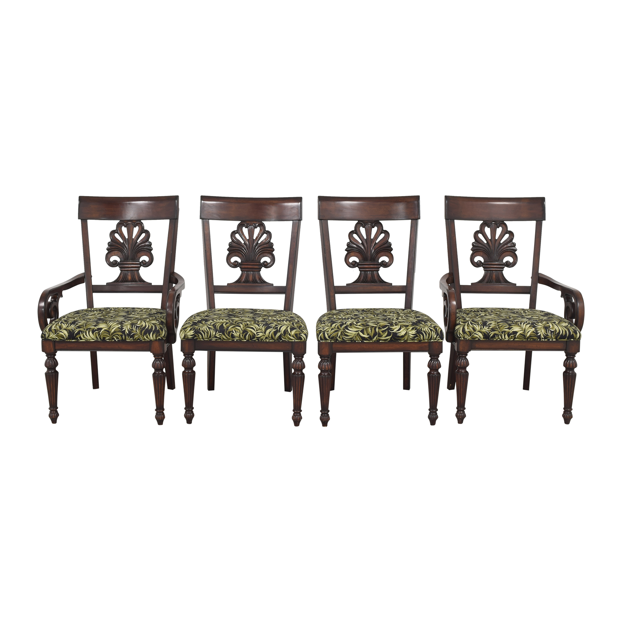 Tommy Bahama Home Tommy Bahama Dining Chairs dark brown & green