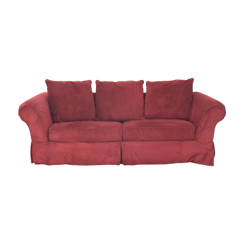 Castro Convertibles Castro Convertibles Queen Sleeper Sofa red