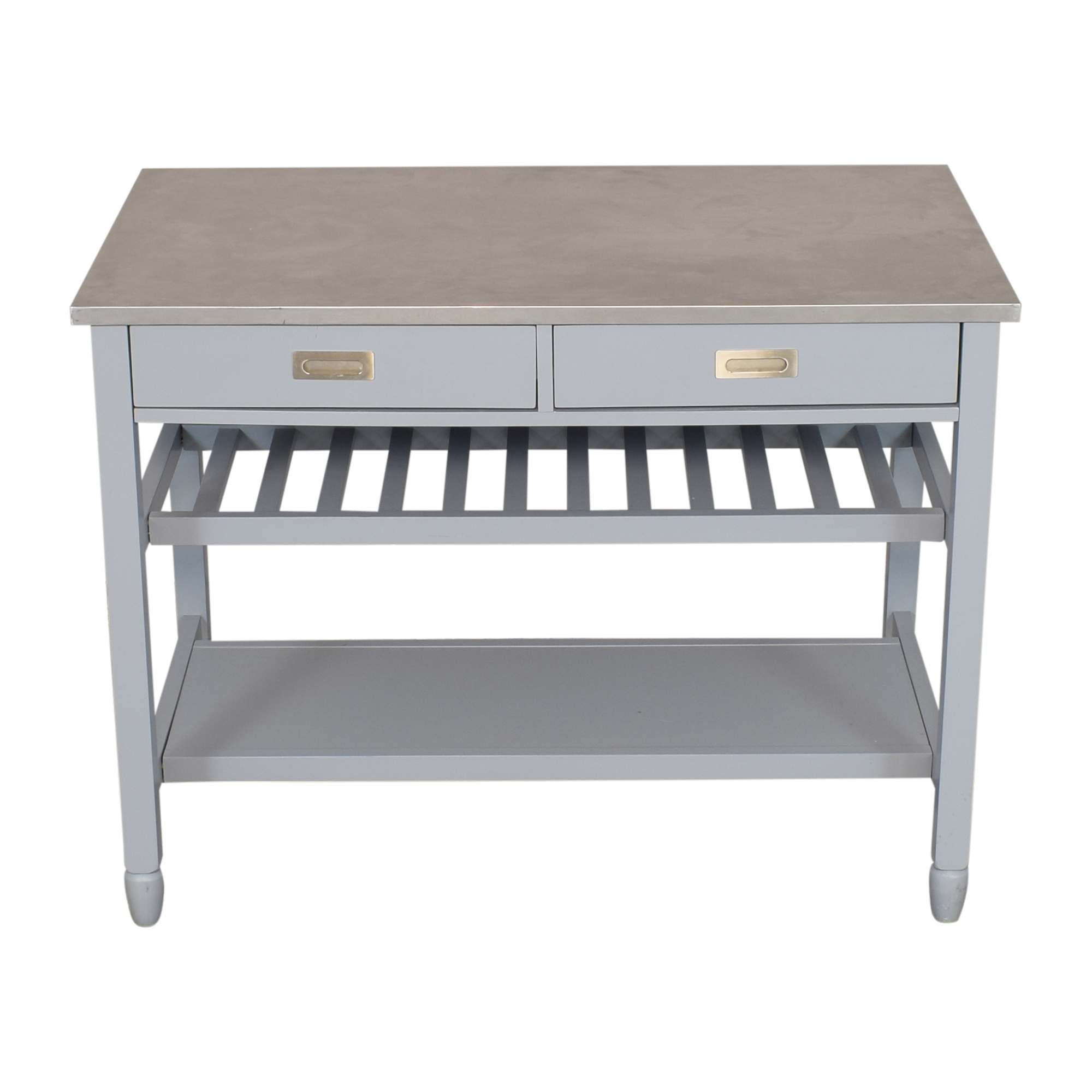 shop Crate & Barrel Sheridan Expandable Kitchen Island Crate & Barrel Utility Tables