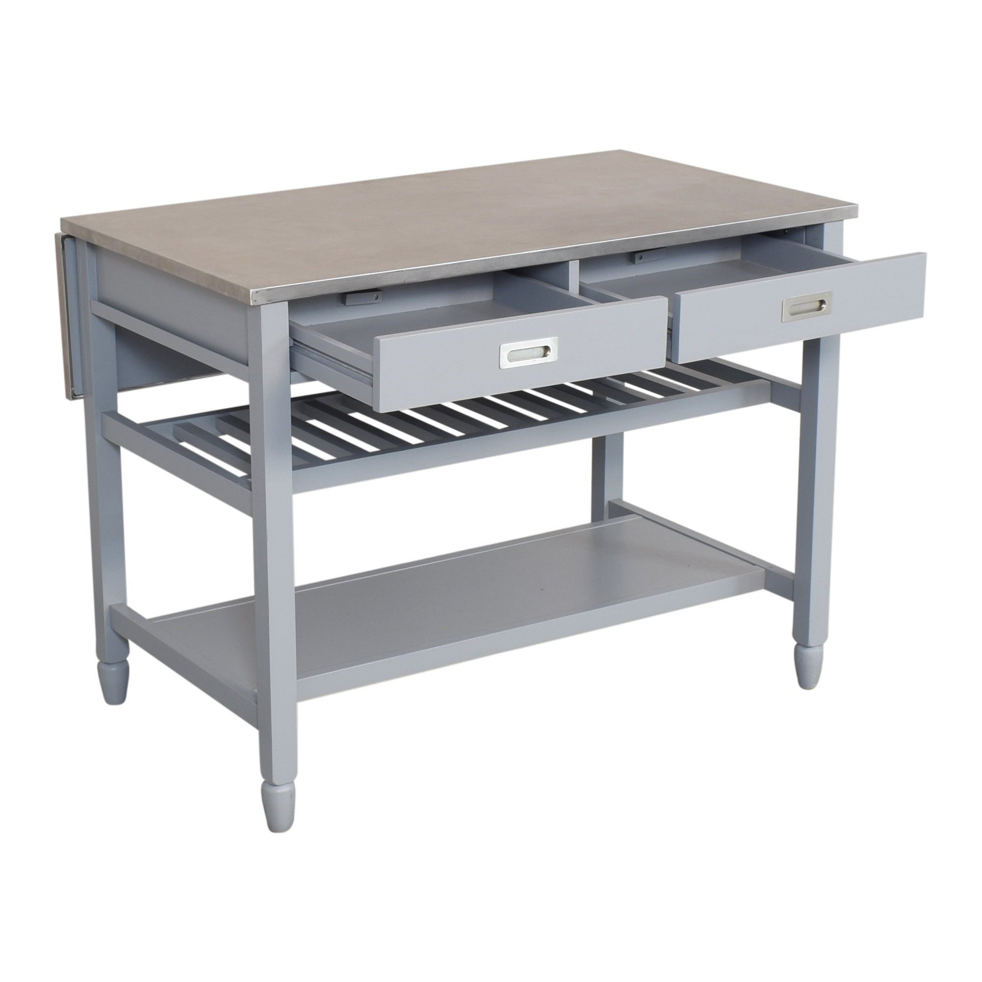 Crate & Barrel Crate & Barrel Sheridan Expandable Kitchen Island Utility Tables