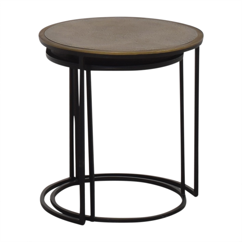 shop Crate & Barrel Crate & Barrel Knurl Nesting Accent Tables online