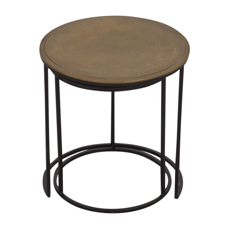 Crate & Barrel Crate & Barrel Knurl Nesting Accent Tables price