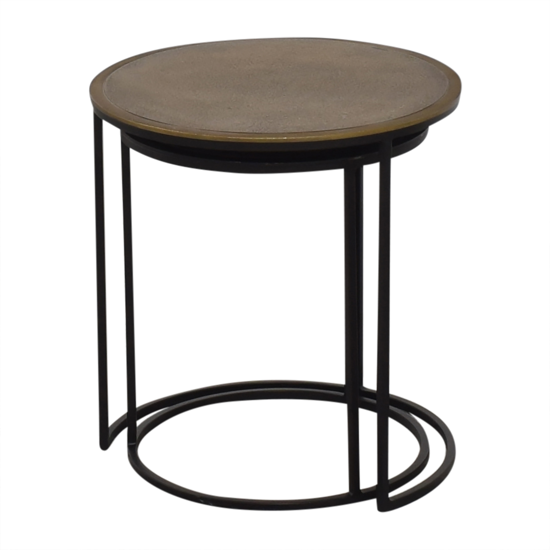 Crate & Barrel Crate & Barrel Knurl Nesting Accent Tables for sale