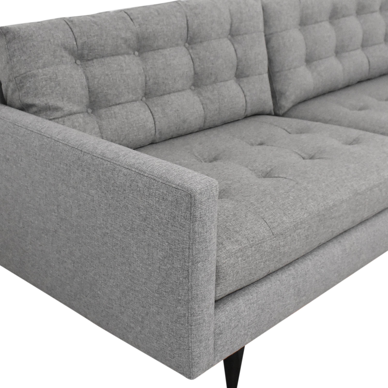 Crate & Barrel Petrie Midcentury Sofa / Classic Sofas