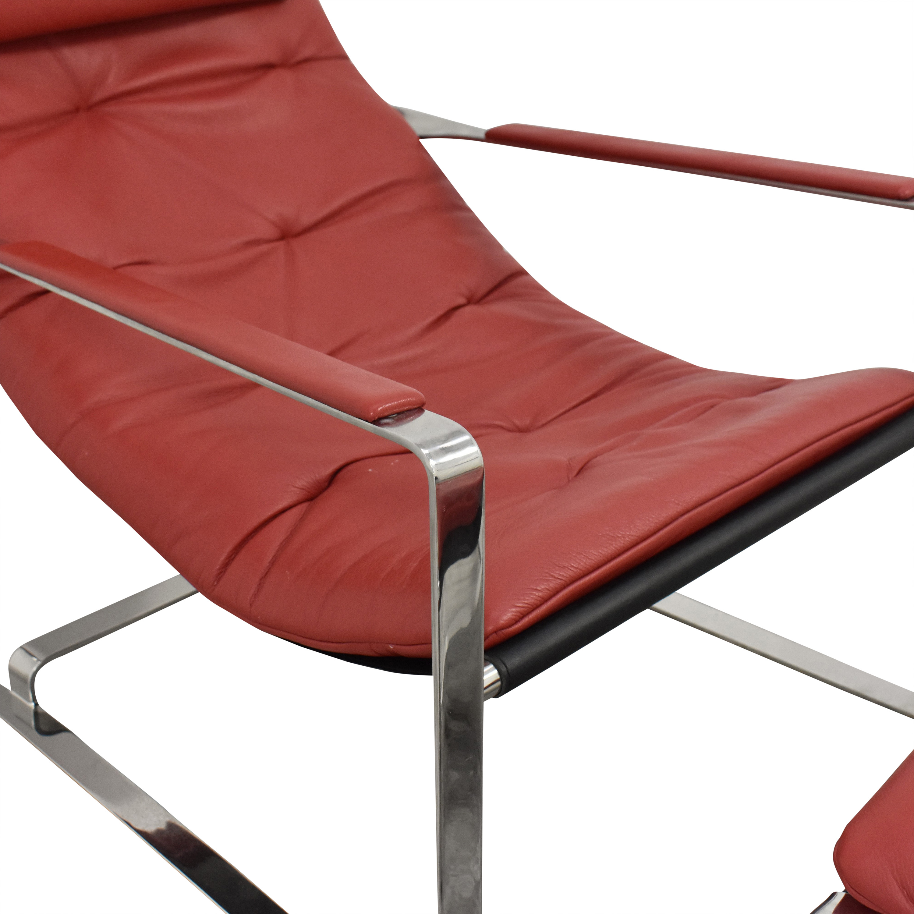 Sling Style Lounge Chair with Ottoman sale