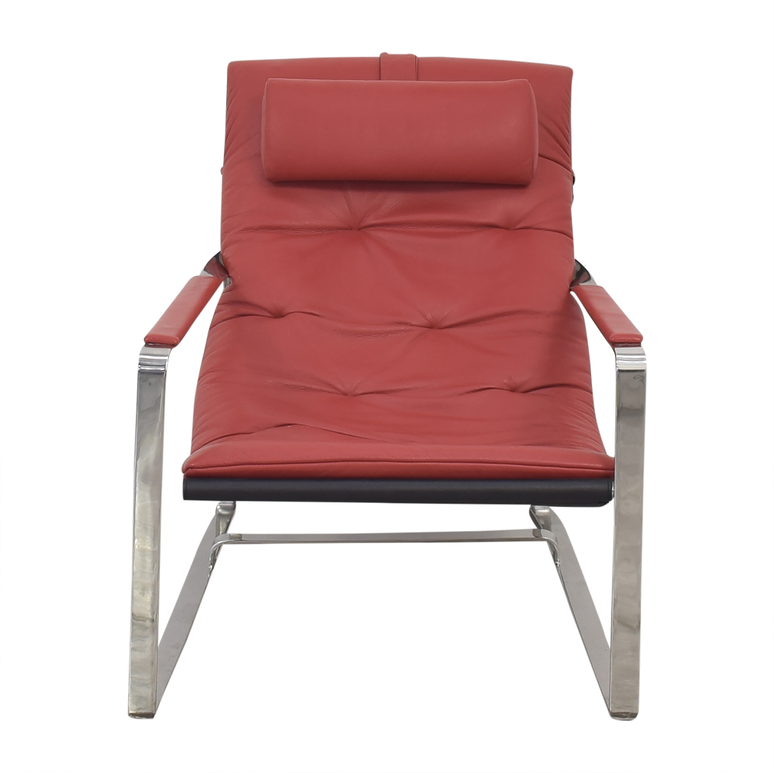 shop Sling Style Lounge Chair with Ottoman  Chairs