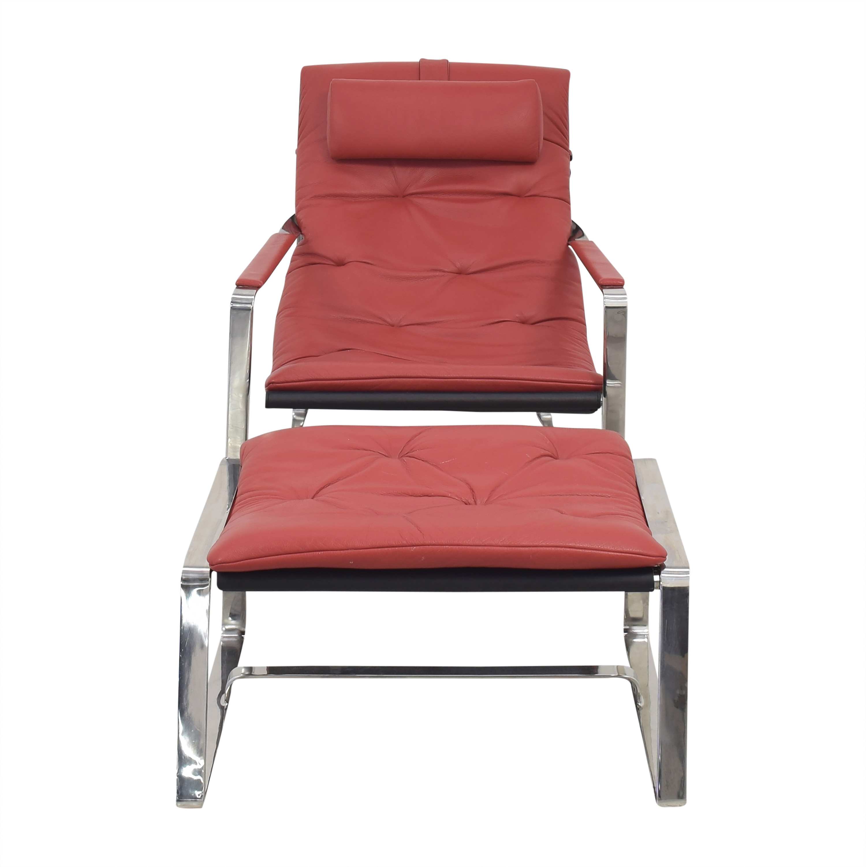 shop Sling Style Lounge Chair with Ottoman  Accent Chairs