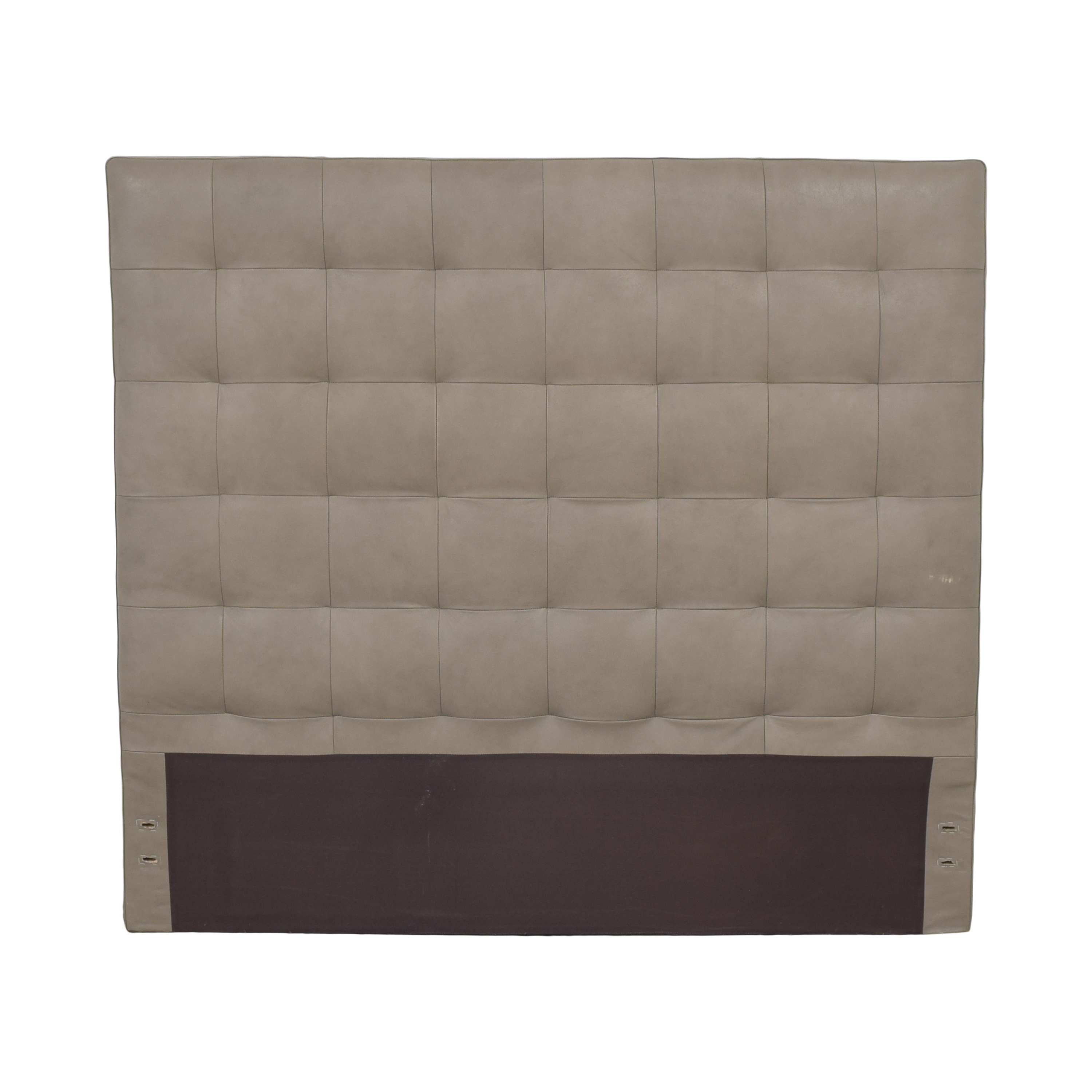 West Elm West Elm Tall Grid Tufted Queen Headboard ct