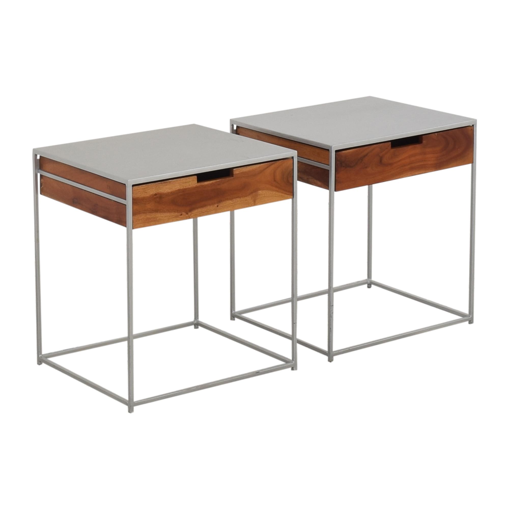 buy CB2 Audrey Nightstands CB2 Tables
