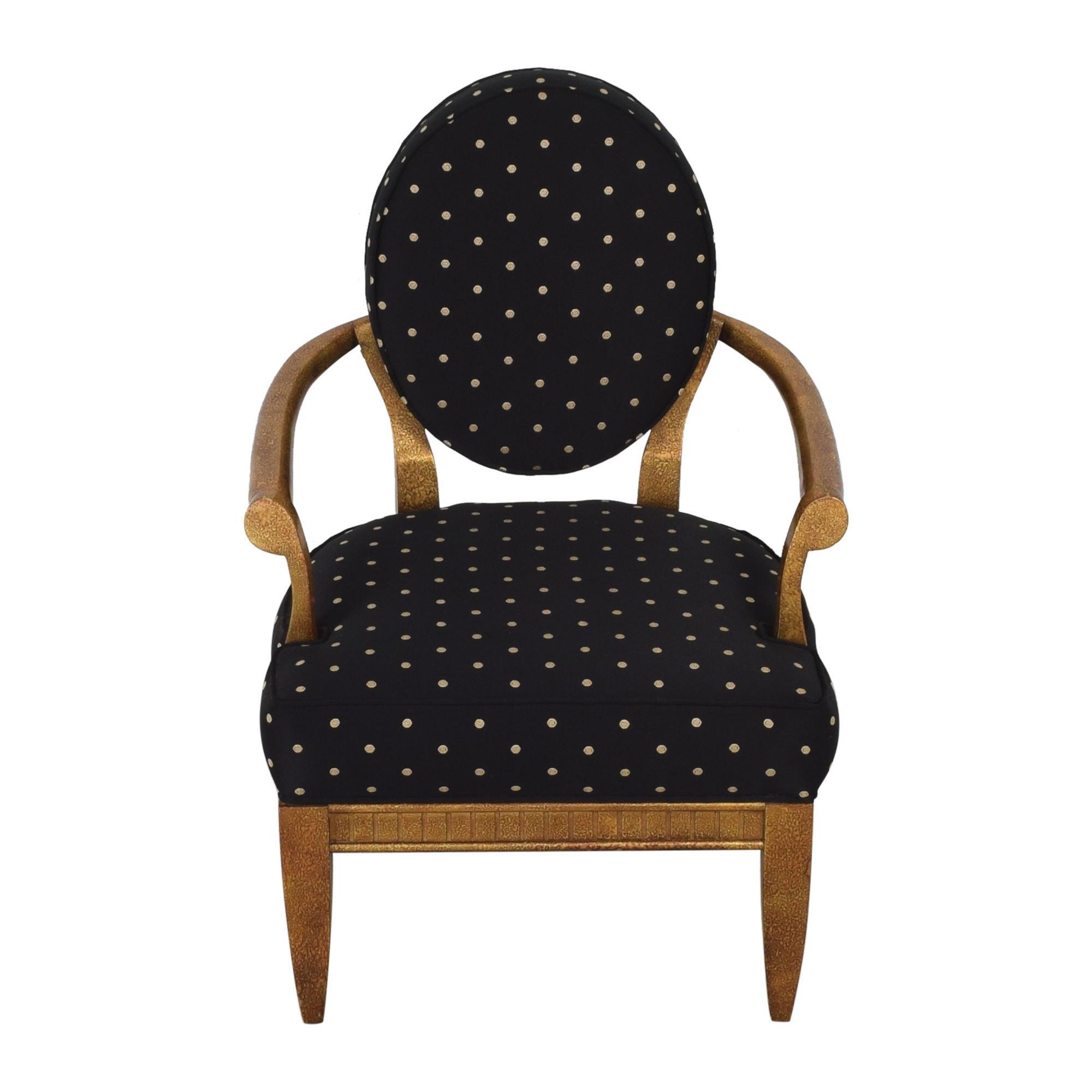 Oval Back Accent Chair discount